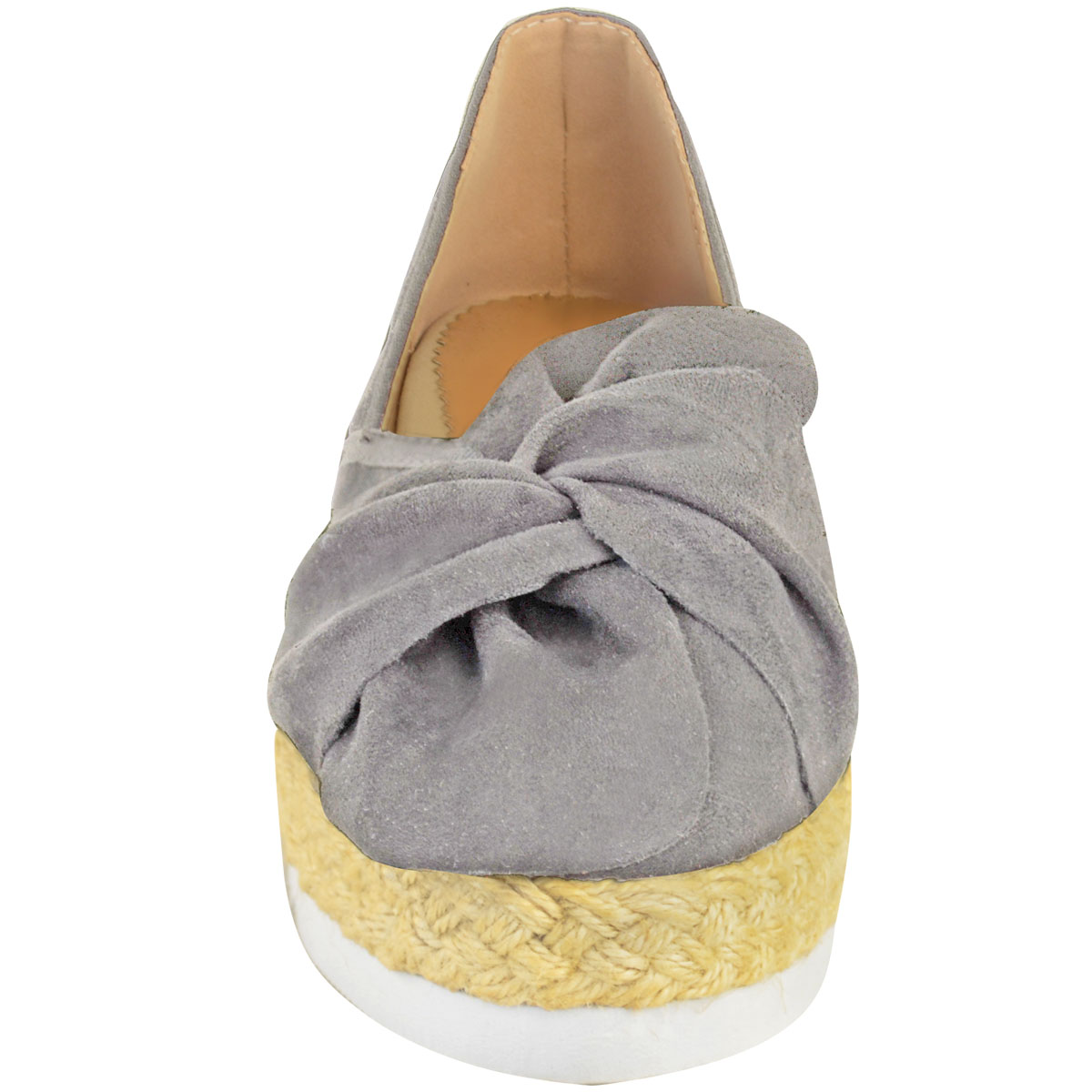 Womens-Ladies-Espadrilles-Flat-Pom-Pom-Sandals-Slip-On-Strappy-Comfy-Size-Shoes thumbnail 41