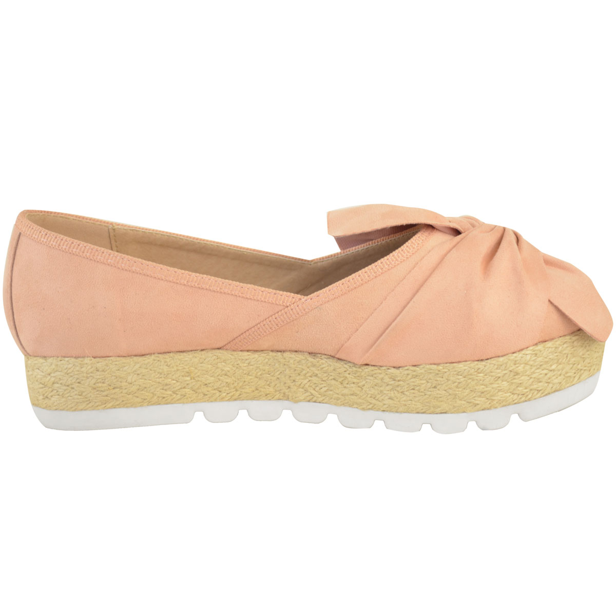 Womens-Ladies-Espadrilles-Flat-Pom-Pom-Sandals-Slip-On-Strappy-Comfy-Size-Shoes thumbnail 43