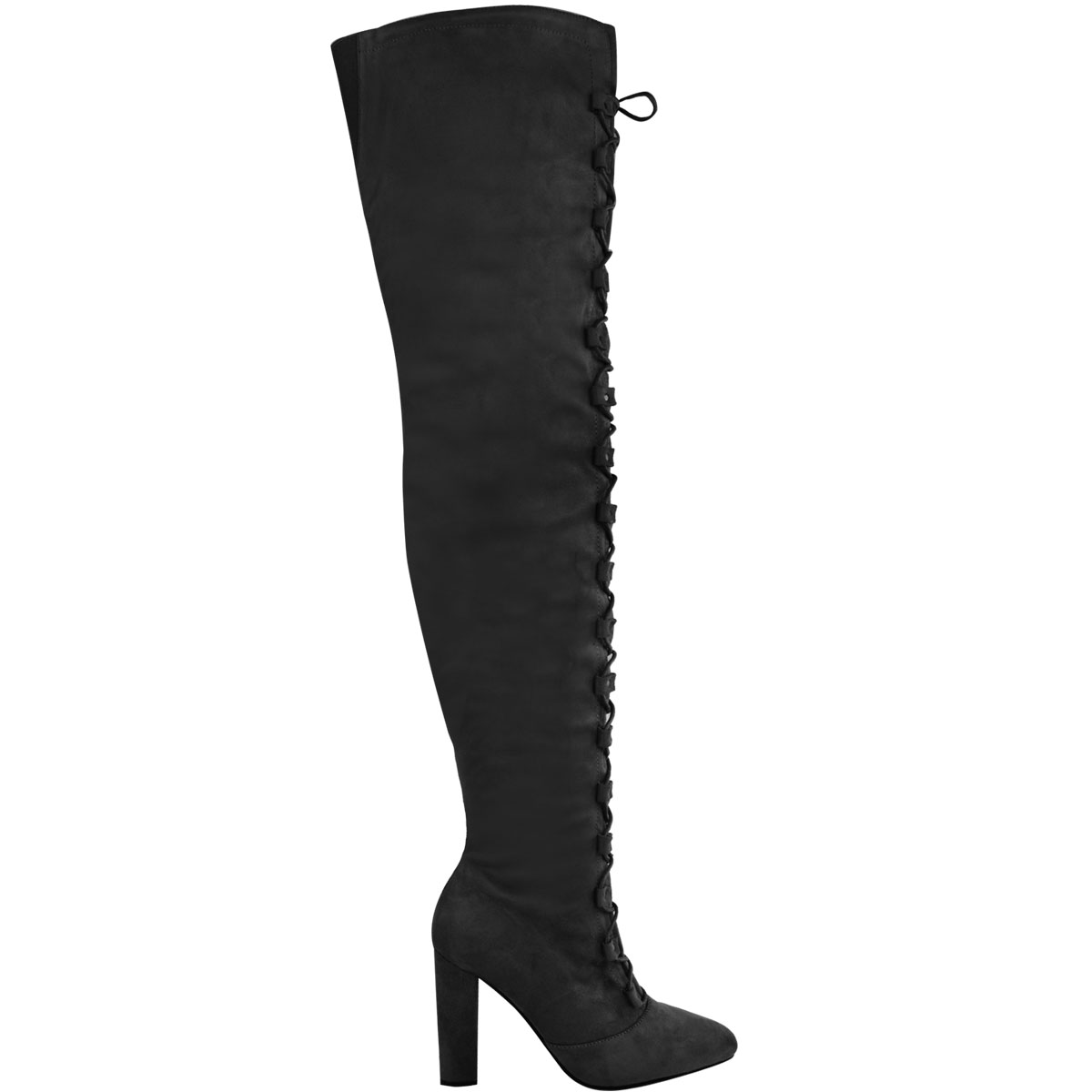 how to wear thigh high lace up boots