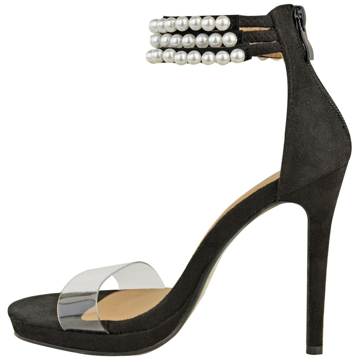 womens ankle stiletto high heel platform