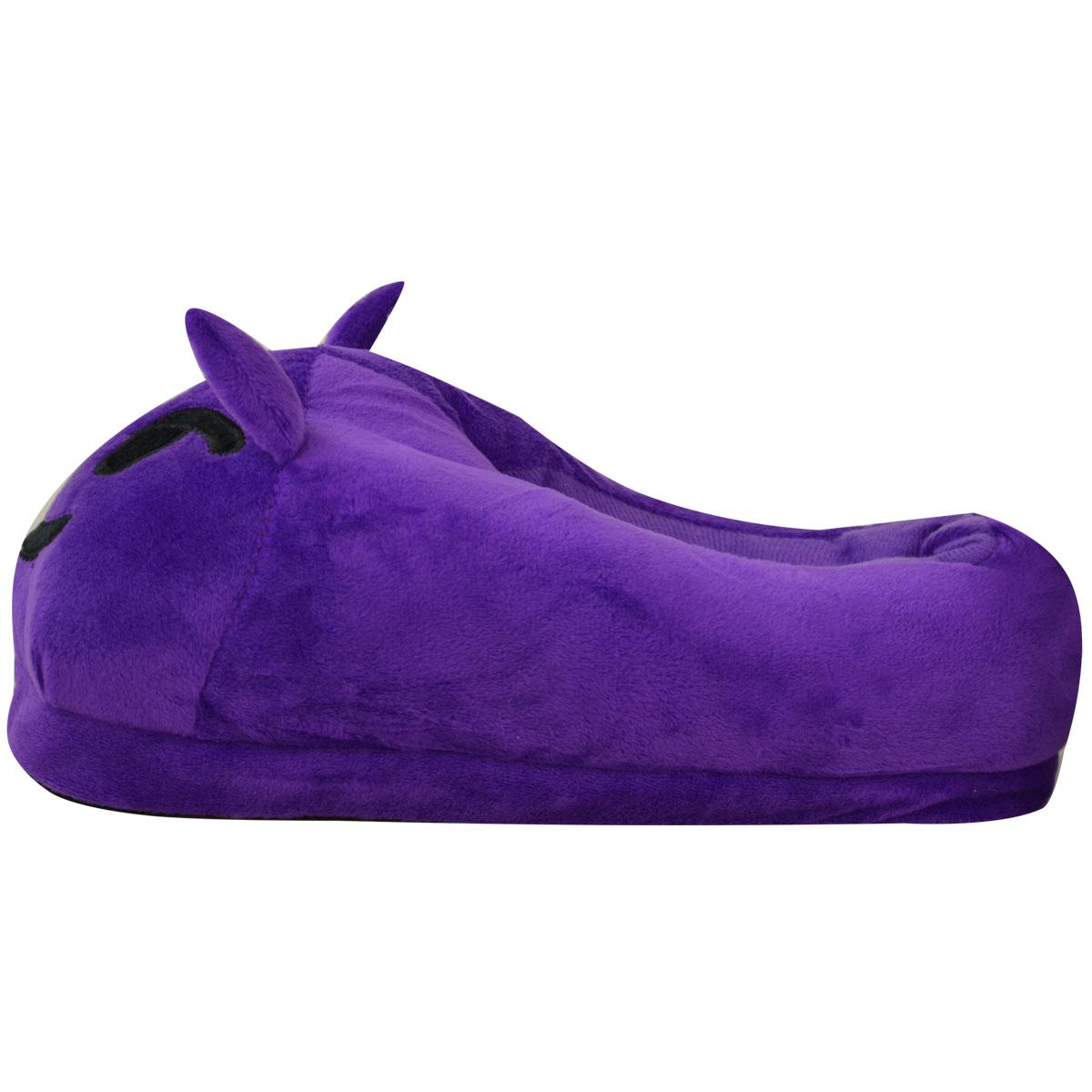 miniatura 25 - Uomini Donne Bambini Emoji Peluche imbottiti unisex Pantofola Inverno Casa Indoor Scarpe Taglia