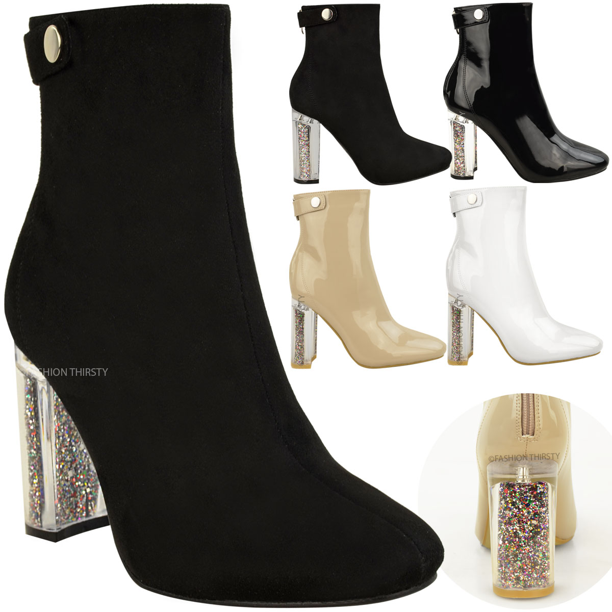 Innovative Black High Heel Ankle Boots Outfit  Shoes Mod