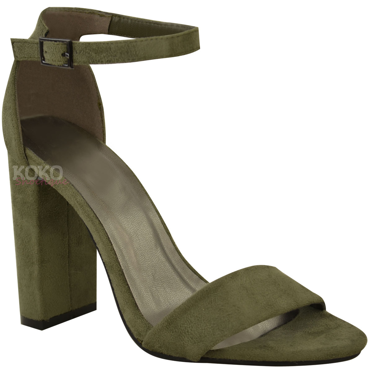 Womens-Ladies-Block-High-Heels-Ankle-Strap-Sexy-Open-Toe-Sandals-Shoes-Size-New miniatuur 53