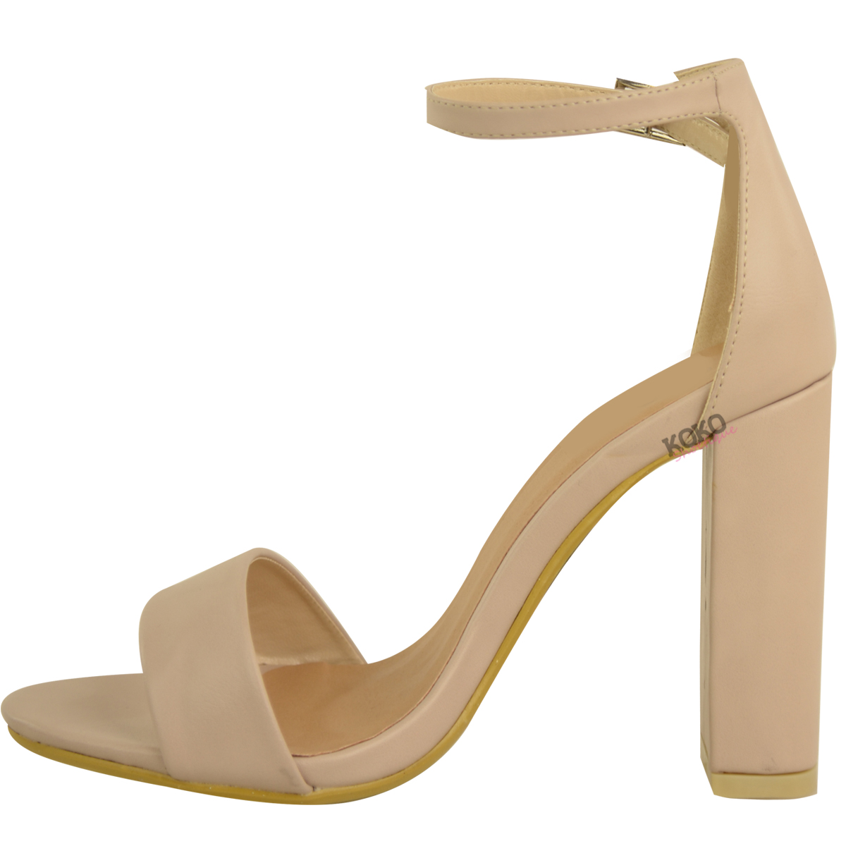 Womens-Ladies-Block-High-Heels-Ankle-Strap-Sexy-Open-Toe-Sandals-Shoes-Size-New miniatuur 20