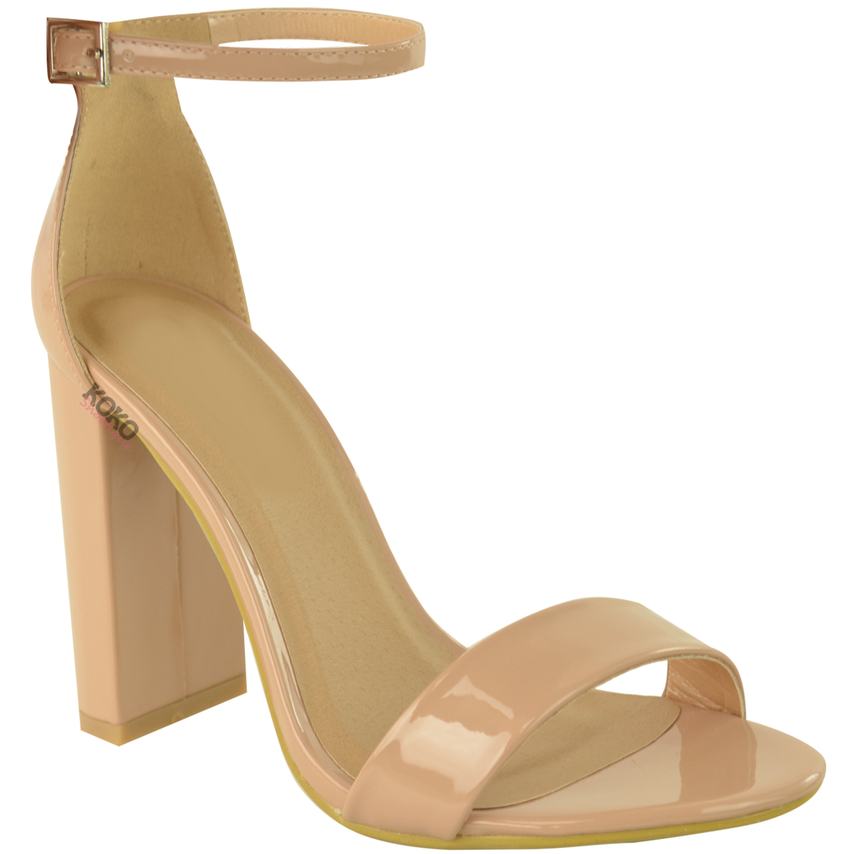 Womens-Ladies-Block-High-Heels-Ankle-Strap-Sexy-Open-Toe-Sandals-Shoes-Size-New miniatuur 48