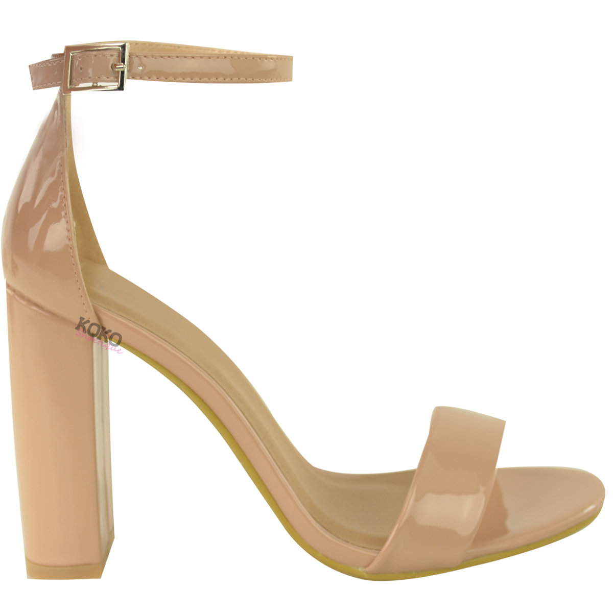 Womens-Ladies-Block-High-Heels-Ankle-Strap-Sexy-Open-Toe-Sandals-Shoes-Size-New miniatuur 49