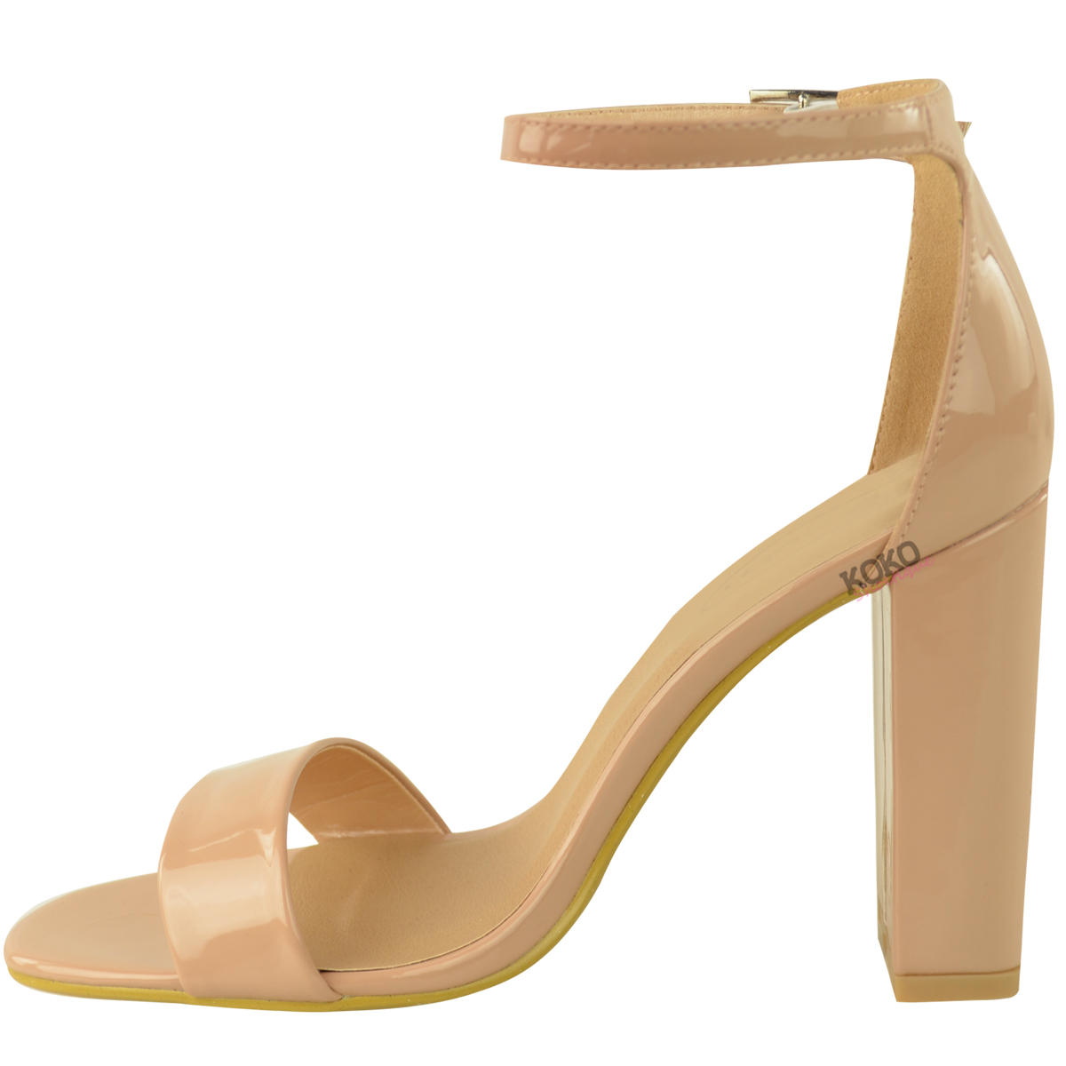 Womens-Ladies-Block-High-Heels-Ankle-Strap-Sexy-Open-Toe-Sandals-Shoes-Size-New miniatuur 50