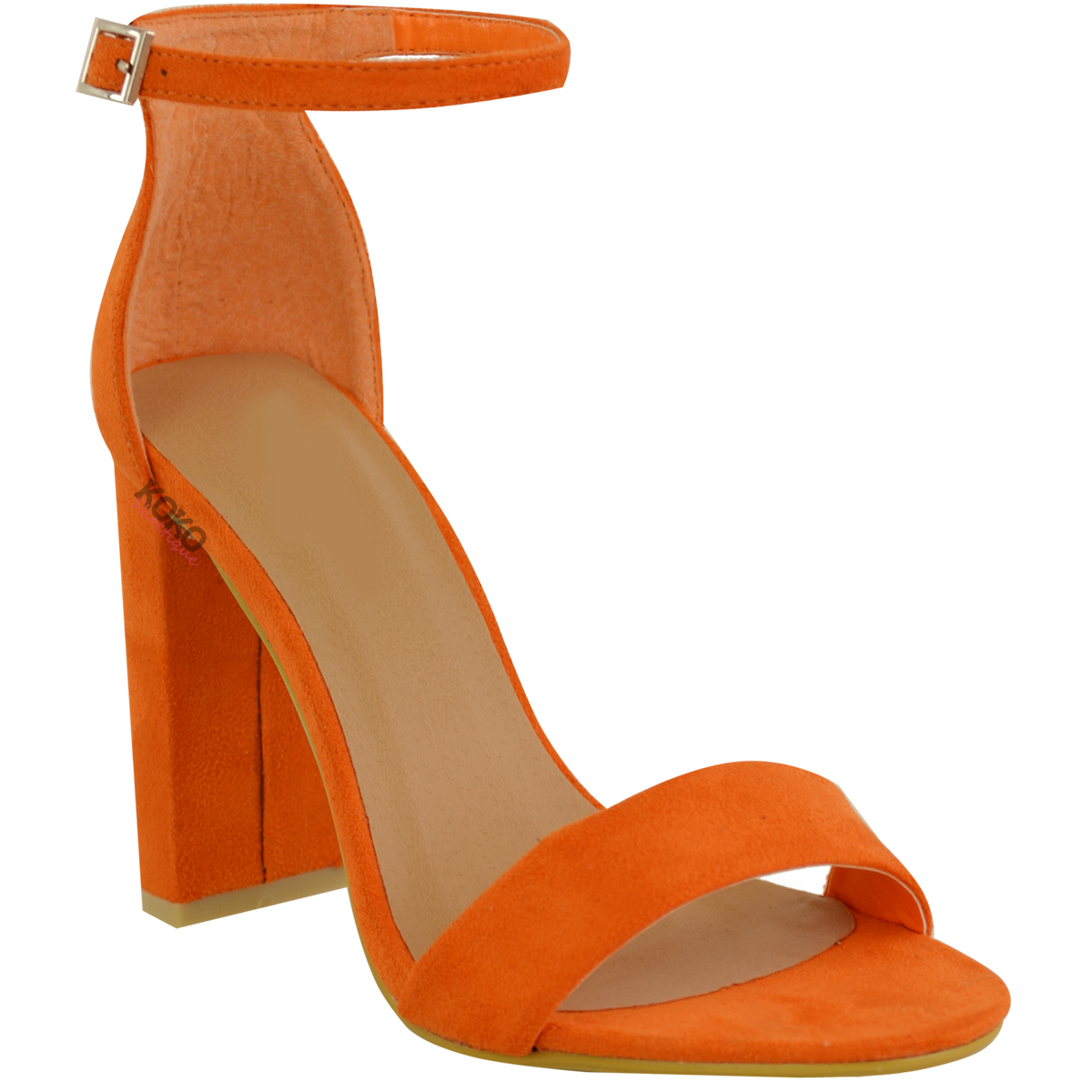Womens-Ladies-Block-High-Heels-Ankle-Strap-Sexy-Open-Toe-Sandals-Shoes-Size-New miniatuur 33