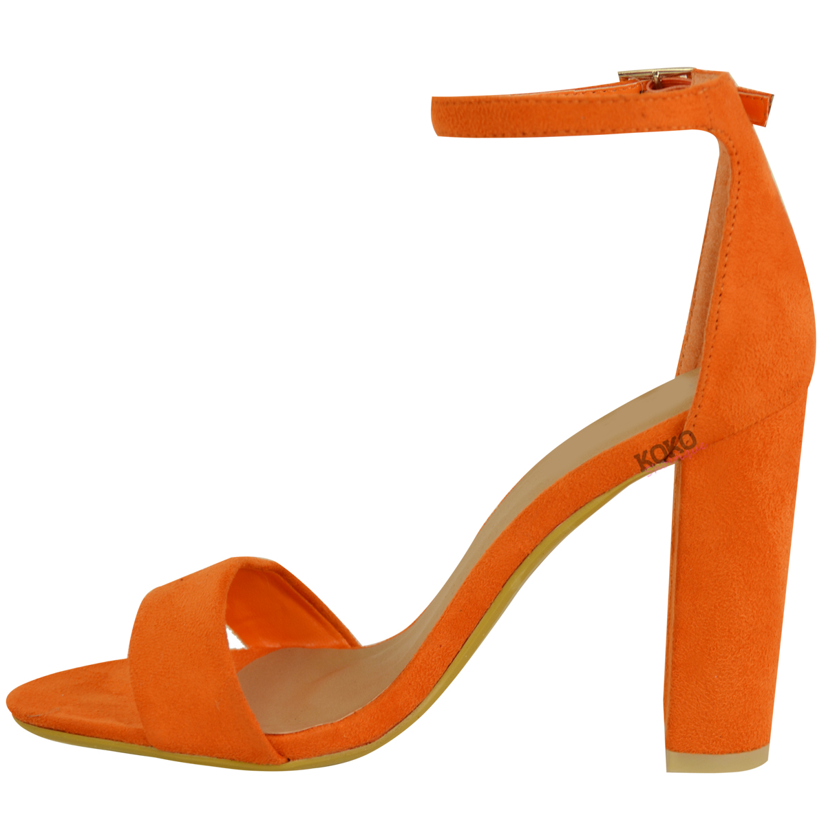 Womens-Ladies-Block-High-Heels-Ankle-Strap-Sexy-Open-Toe-Sandals-Shoes-Size-New miniatuur 35