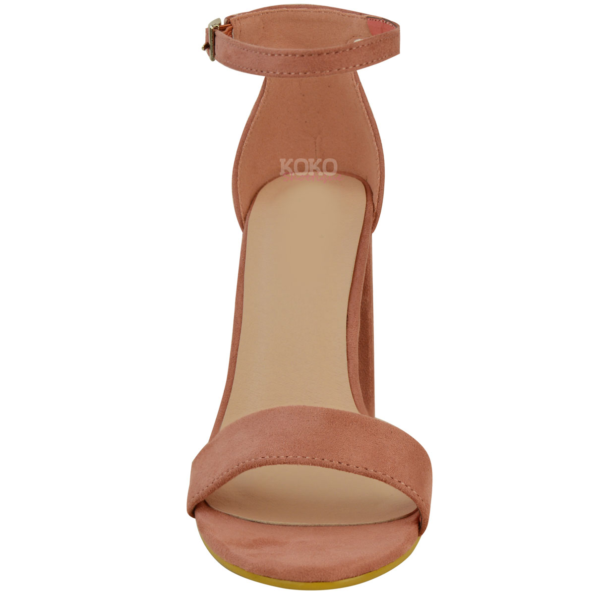 Womens-Ladies-Block-High-Heels-Ankle-Strap-Sexy-Open-Toe-Sandals-Shoes-Size-New miniatuur 71