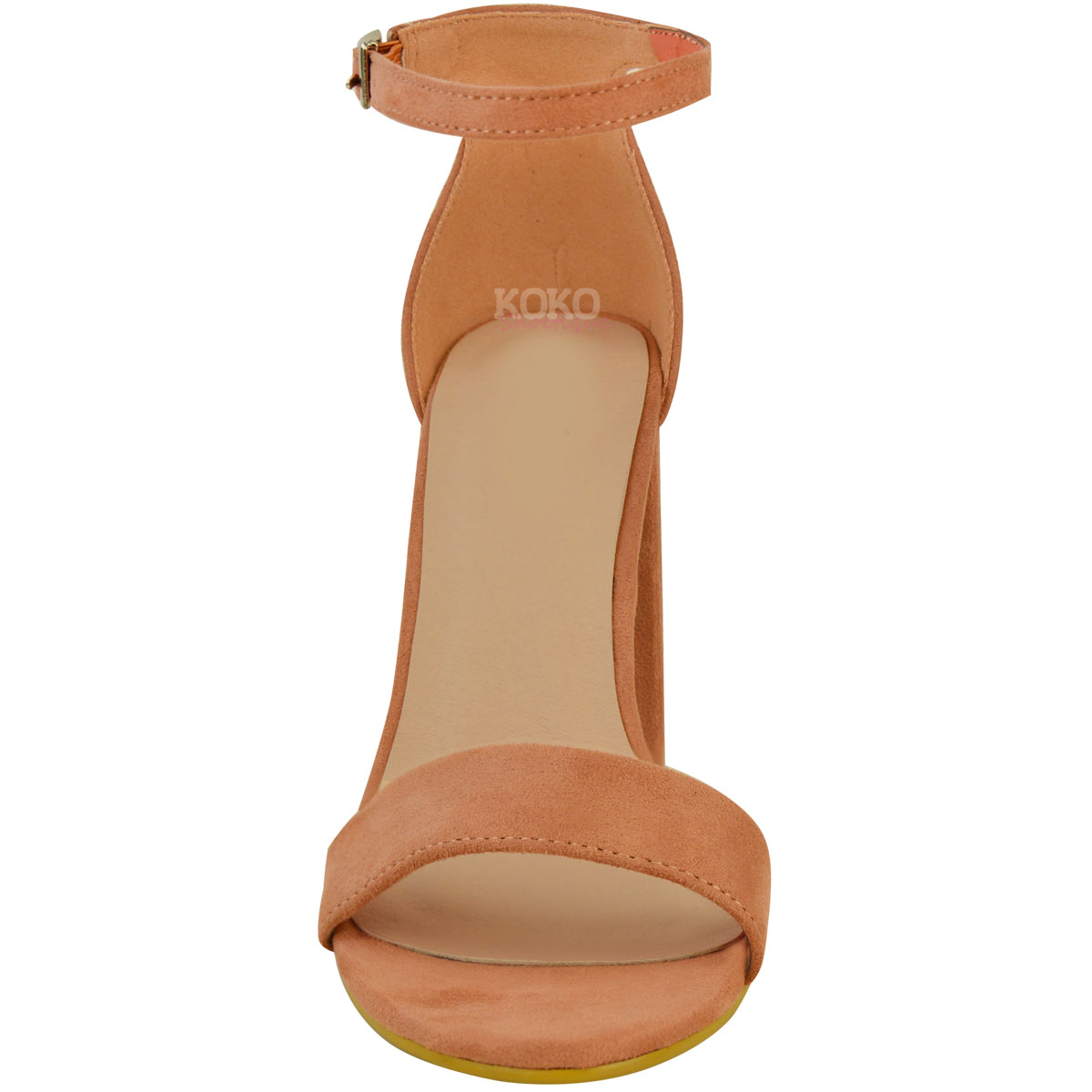 Womens-Ladies-Block-High-Heels-Ankle-Strap-Sexy-Open-Toe-Sandals-Shoes-Size-New miniatuur 61