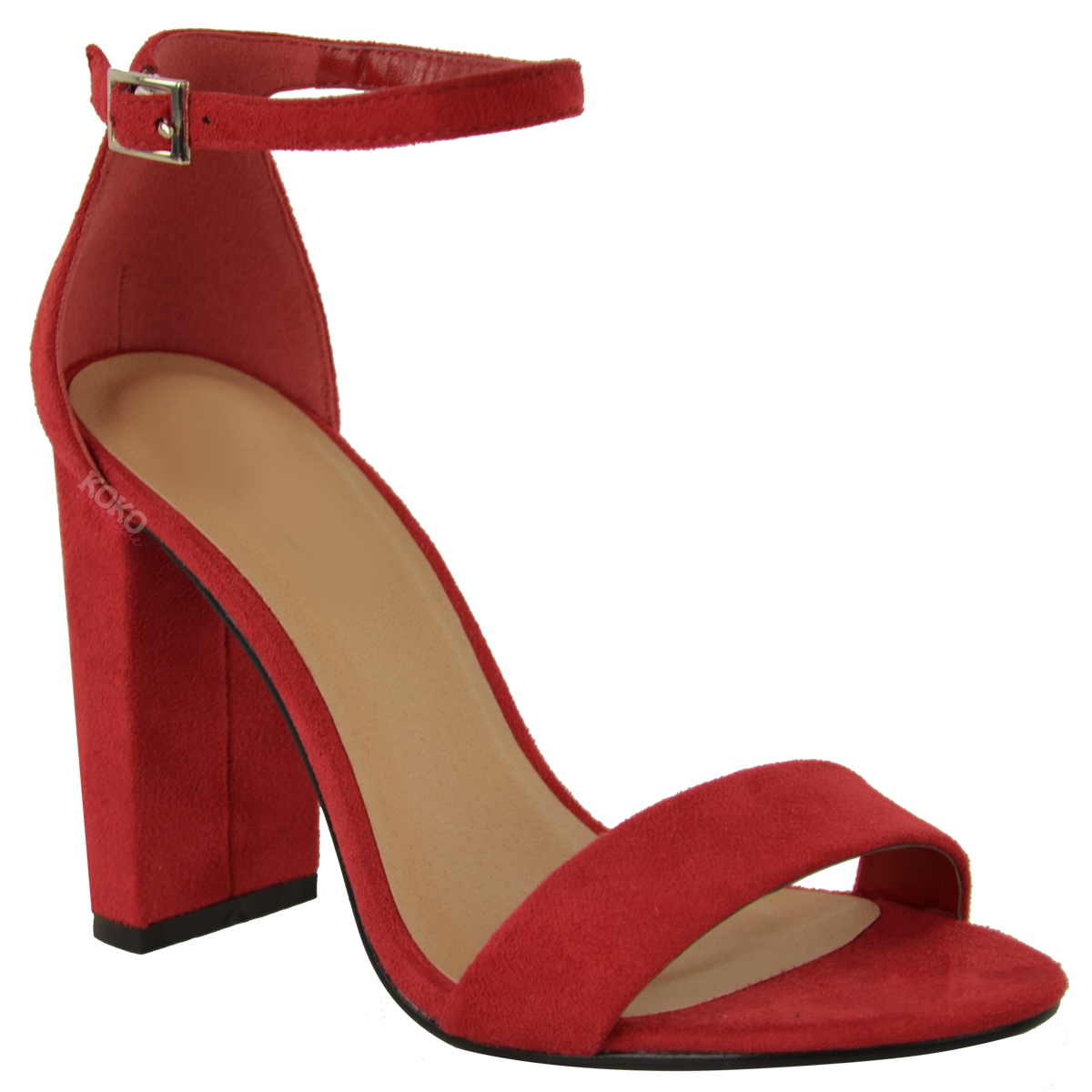 Womens-Ladies-Block-High-Heels-Ankle-Strap-Sexy-Open-Toe-Sandals-Shoes-Size-New miniatuur 43