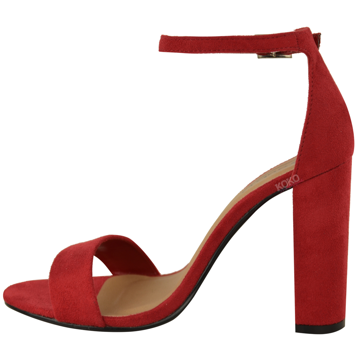 Womens-Ladies-Block-High-Heels-Ankle-Strap-Sexy-Open-Toe-Sandals-Shoes-Size-New miniatuur 45