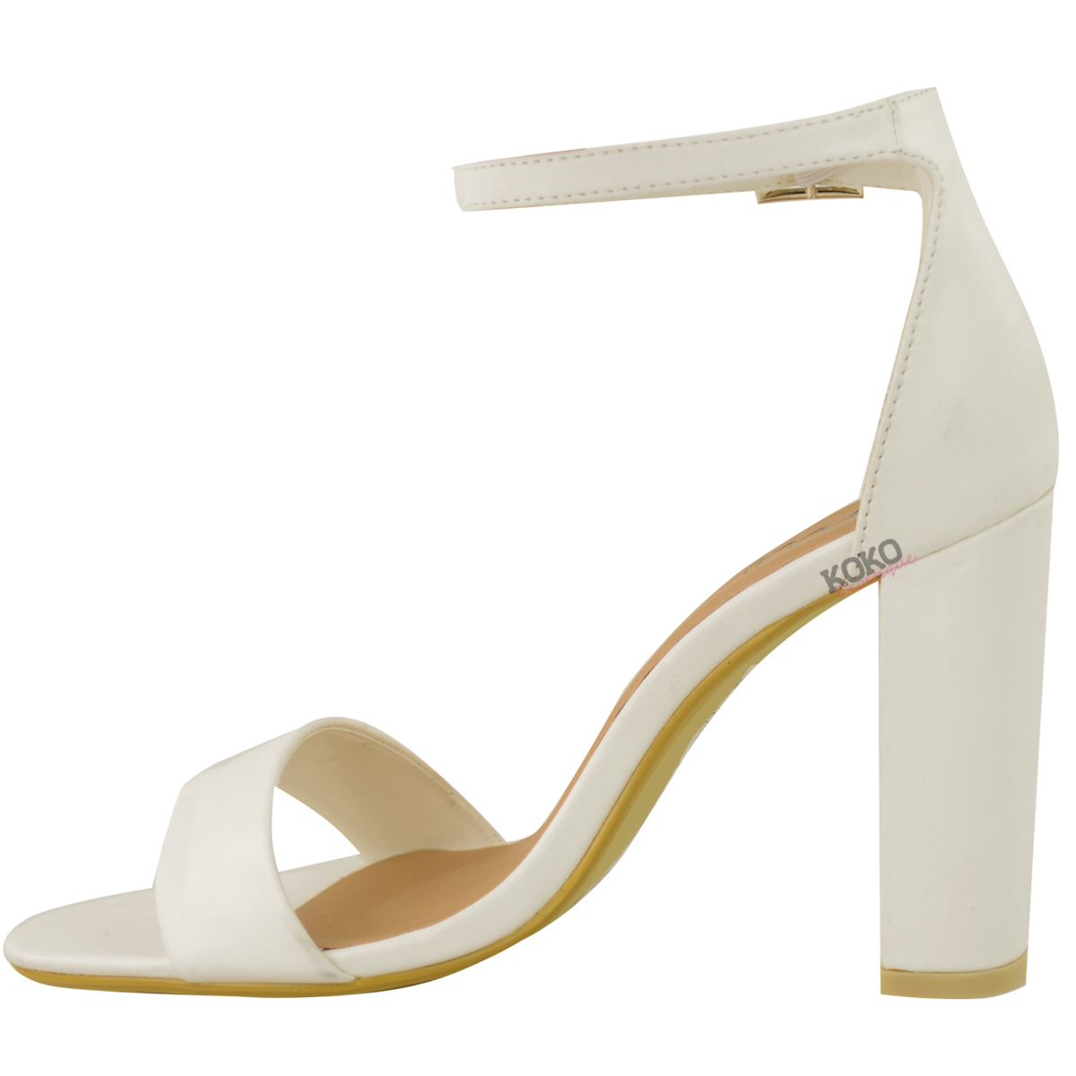 Womens-Ladies-Block-High-Heels-Ankle-Strap-Sexy-Open-Toe-Sandals-Shoes-Size-New miniatuur 40