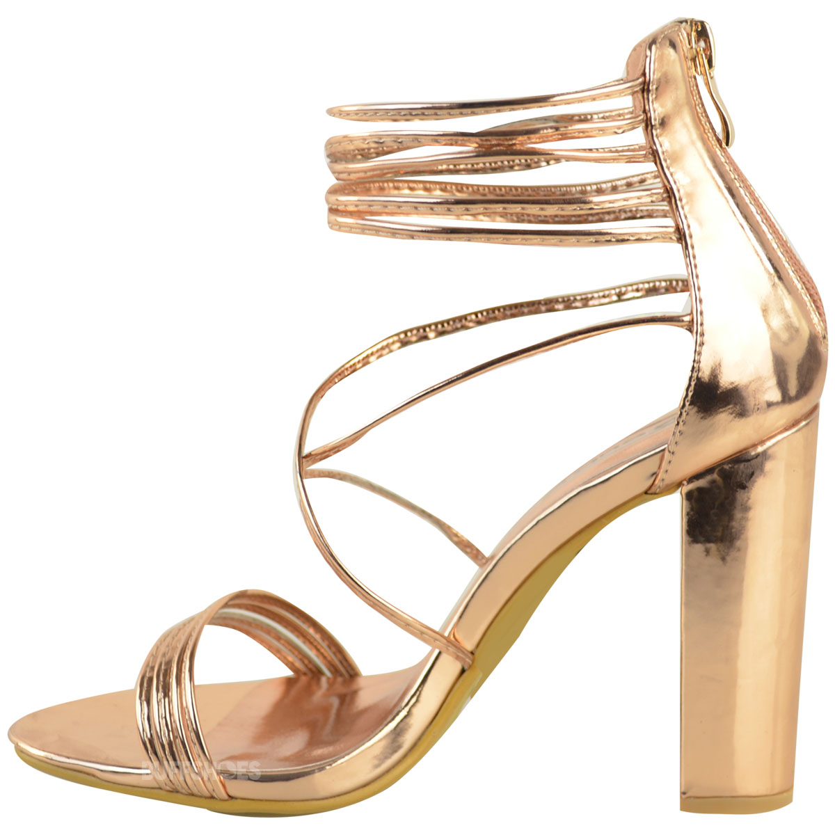 High Heel Peep Toe Ankle Strap Shoes