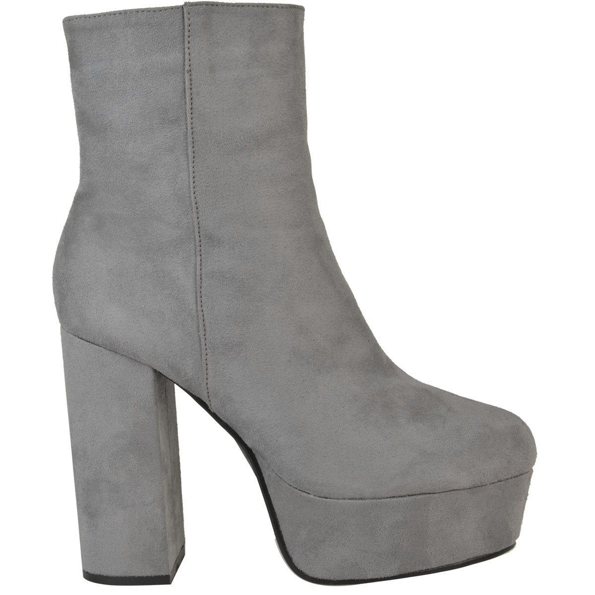 Womens Ladies Platforms Ankle Boots Chunky Block High Heel