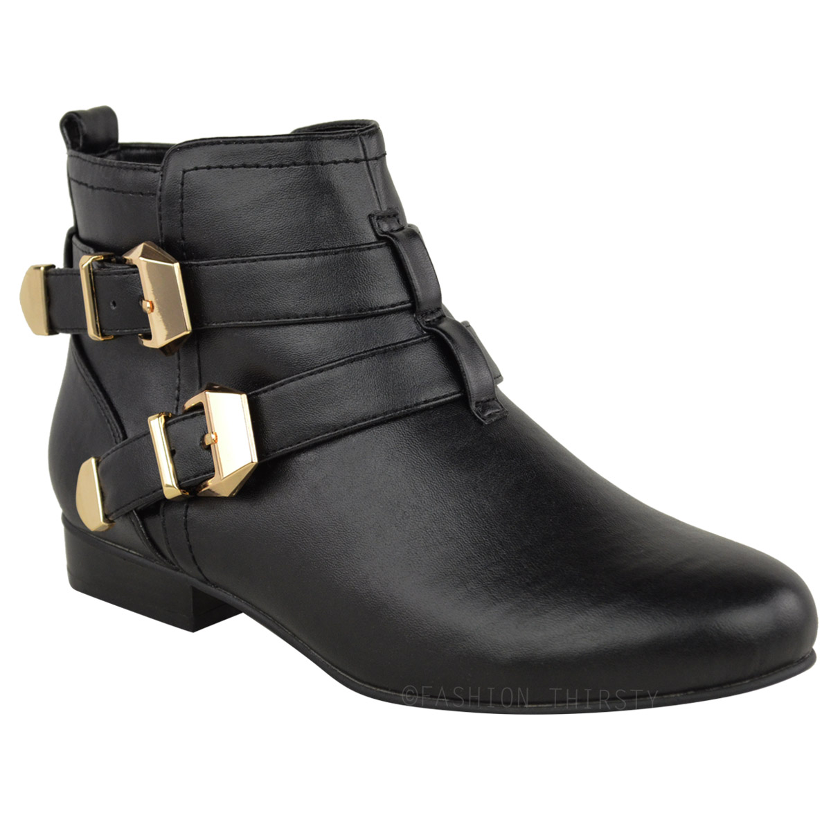 Elegant New Womens Elastic Pull On Flat Chelsea Ankle Boots Fashion Smart Ladies Pixie S | EBay