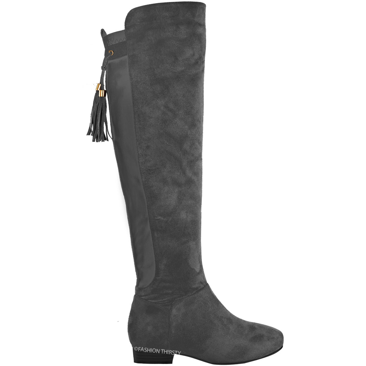 new womens the knee thigh high flat boots