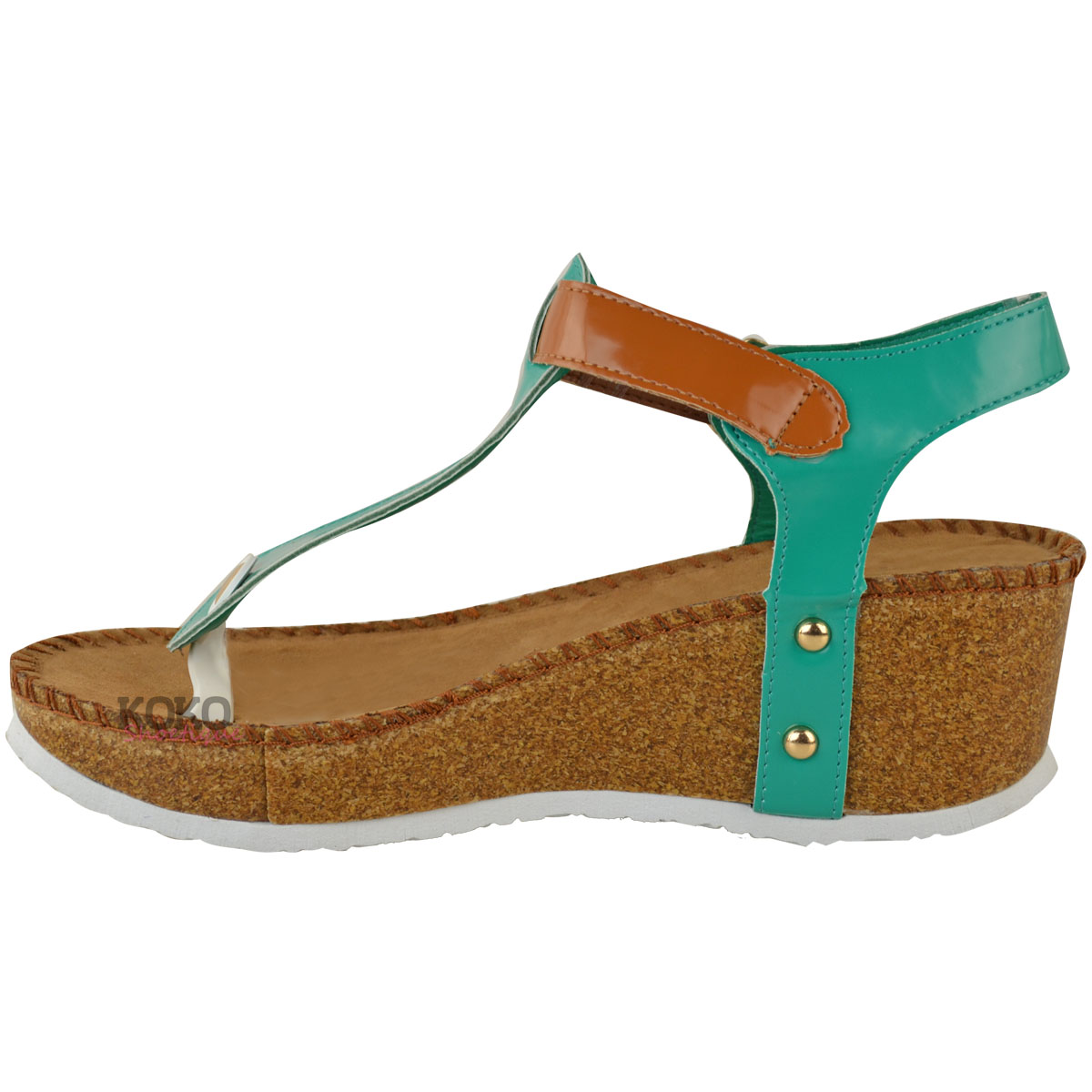 4b5dd6955 New Ladies Womens Wedge Comfort Sandals Cushioned Flip Flops Footbed ...