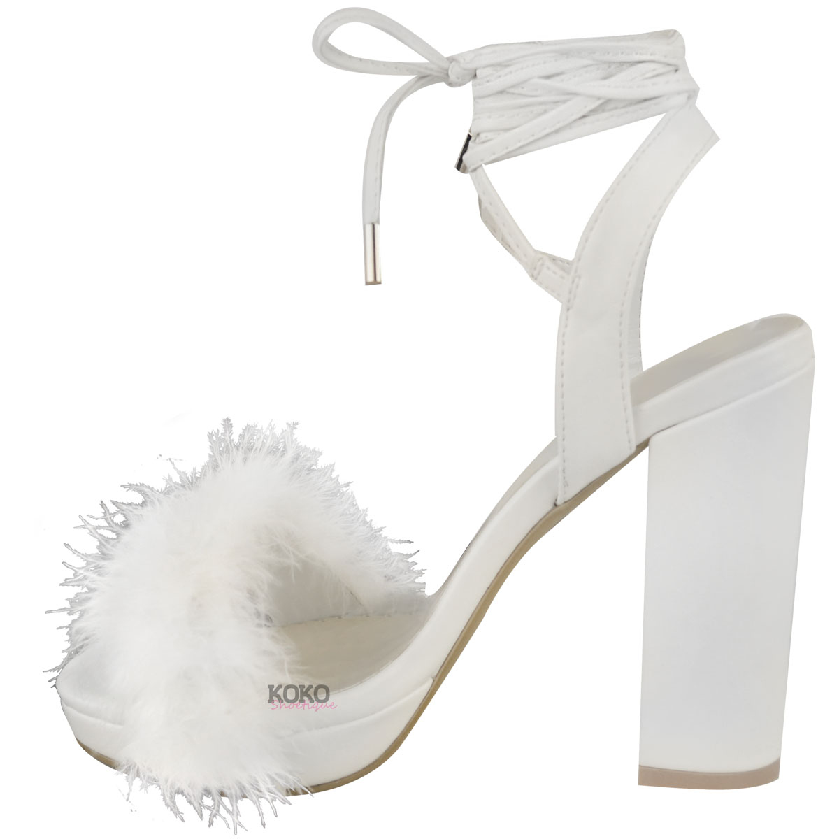 Womens Ladies Block High Heel Sandals