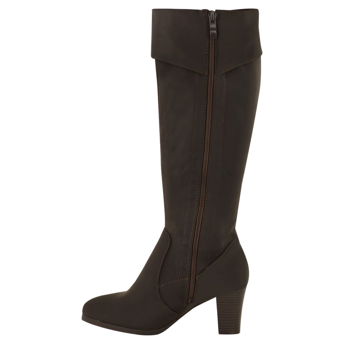 Popular LADIES WOMENS WIDE LEG STRETCH KNEE HIGH HEEL MID STILETTO BOOTS MID CALF SIZE | EBay