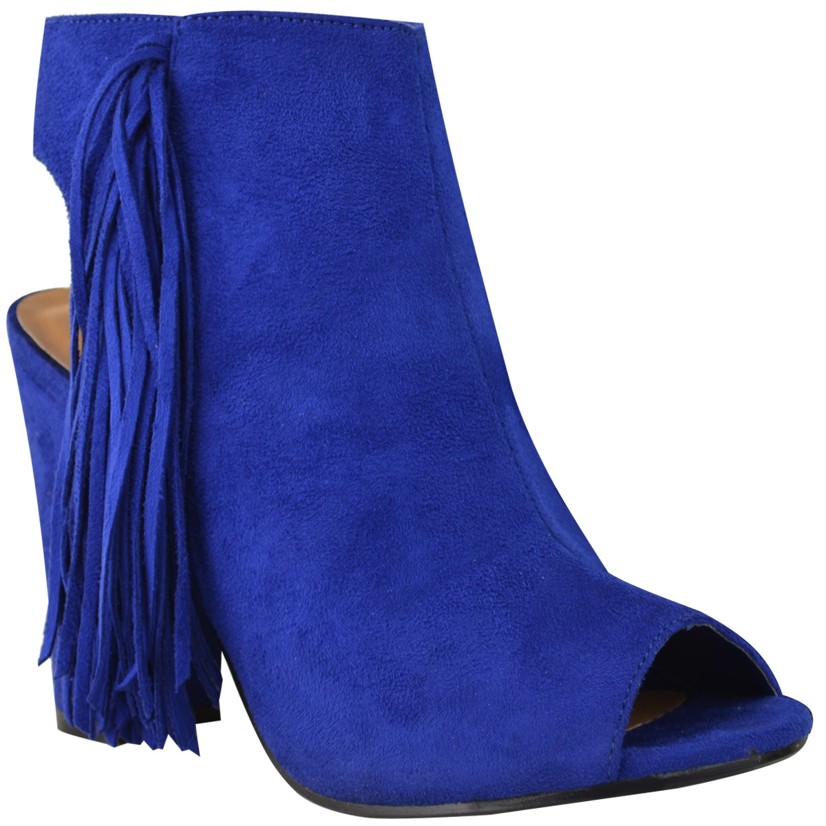 new womens tassel ankle knee boots low mid block