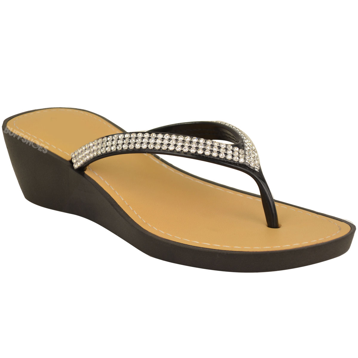 NEW-JELLY-SANDALS-WOMENS-LADIES-DIAMANTE-SUMMER-HOLIDAY-COMFORTS-FLIP-FLOPS-SIZE thumbnail 3