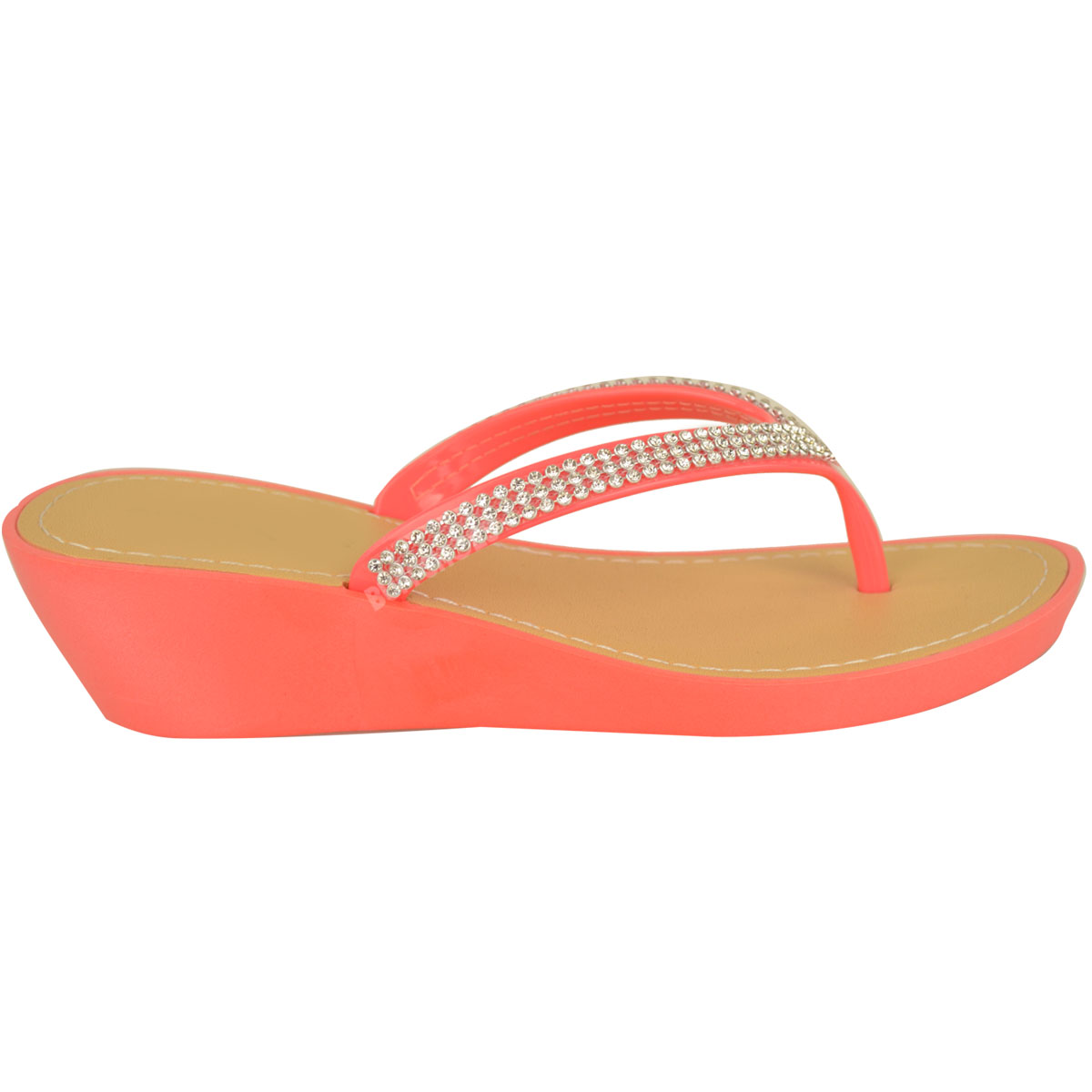 NEW-JELLY-SANDALS-WOMENS-LADIES-DIAMANTE-SUMMER-HOLIDAY-COMFORTS-FLIP-FLOPS-SIZE thumbnail 16