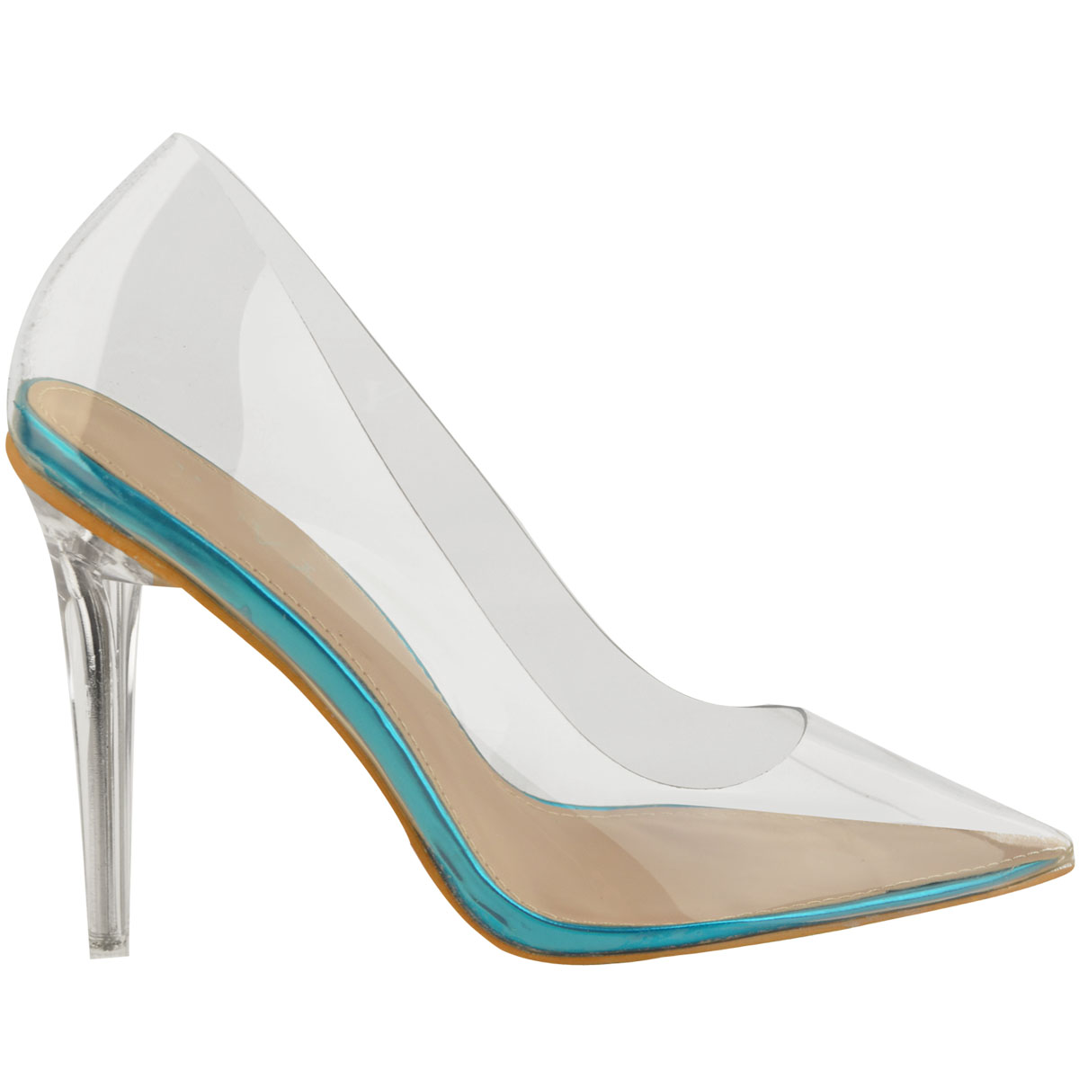 Womens-Ladies-Clear-Perspex-See-Through-High-Heel-Party-Sandals-Court-Shoes thumbnail 7