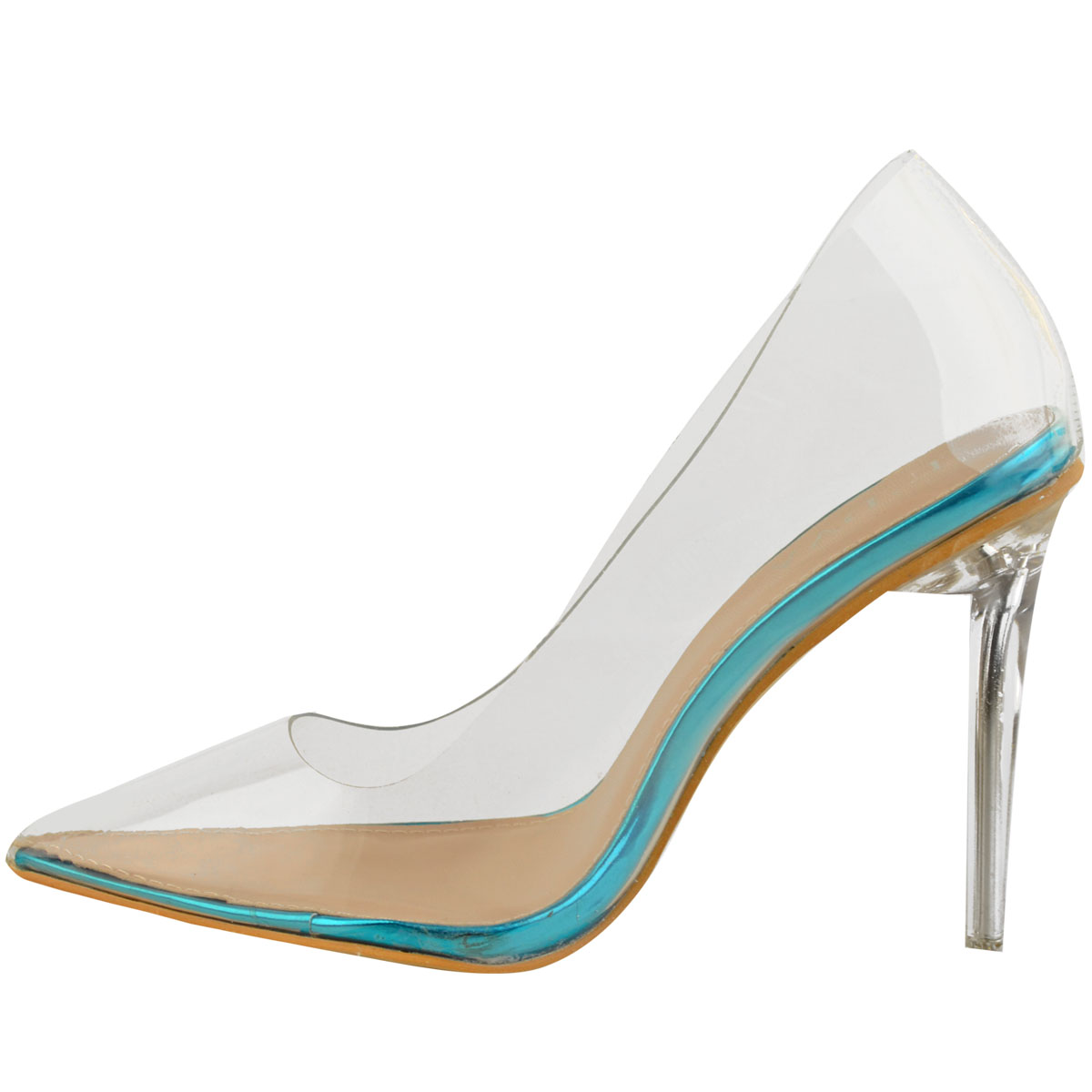 Womens-Ladies-Clear-Perspex-See-Through-High-Heel-Party-Sandals-Court-Shoes thumbnail 8