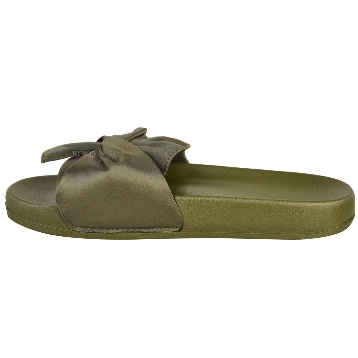 Mujer señoras cómoda Pisos De Goma Arco deslizadores Casual Pantuflas Zapatos Raso Talla