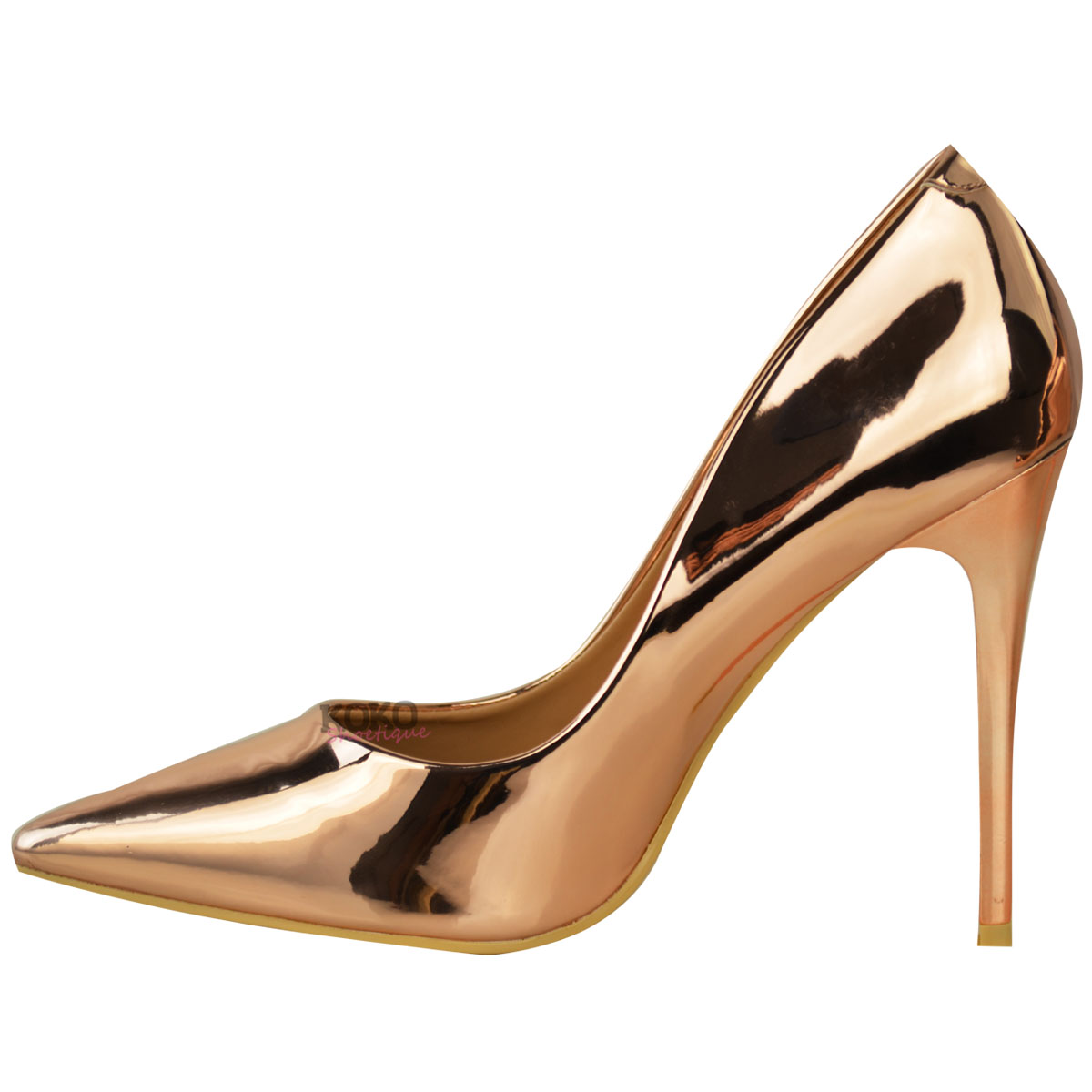New Womens Ladies Pointed Toe High Heel Party Work Smart ...