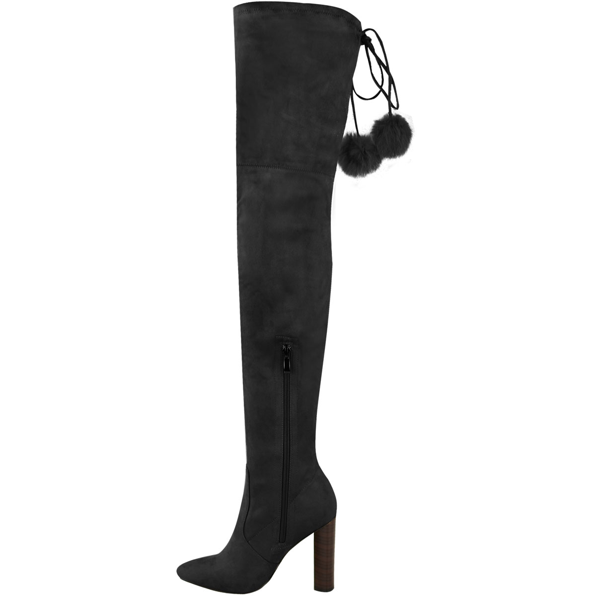 Womens Ladies Thigh High Stretch Lycra Boots Over The Knee Celeb High Heels Size