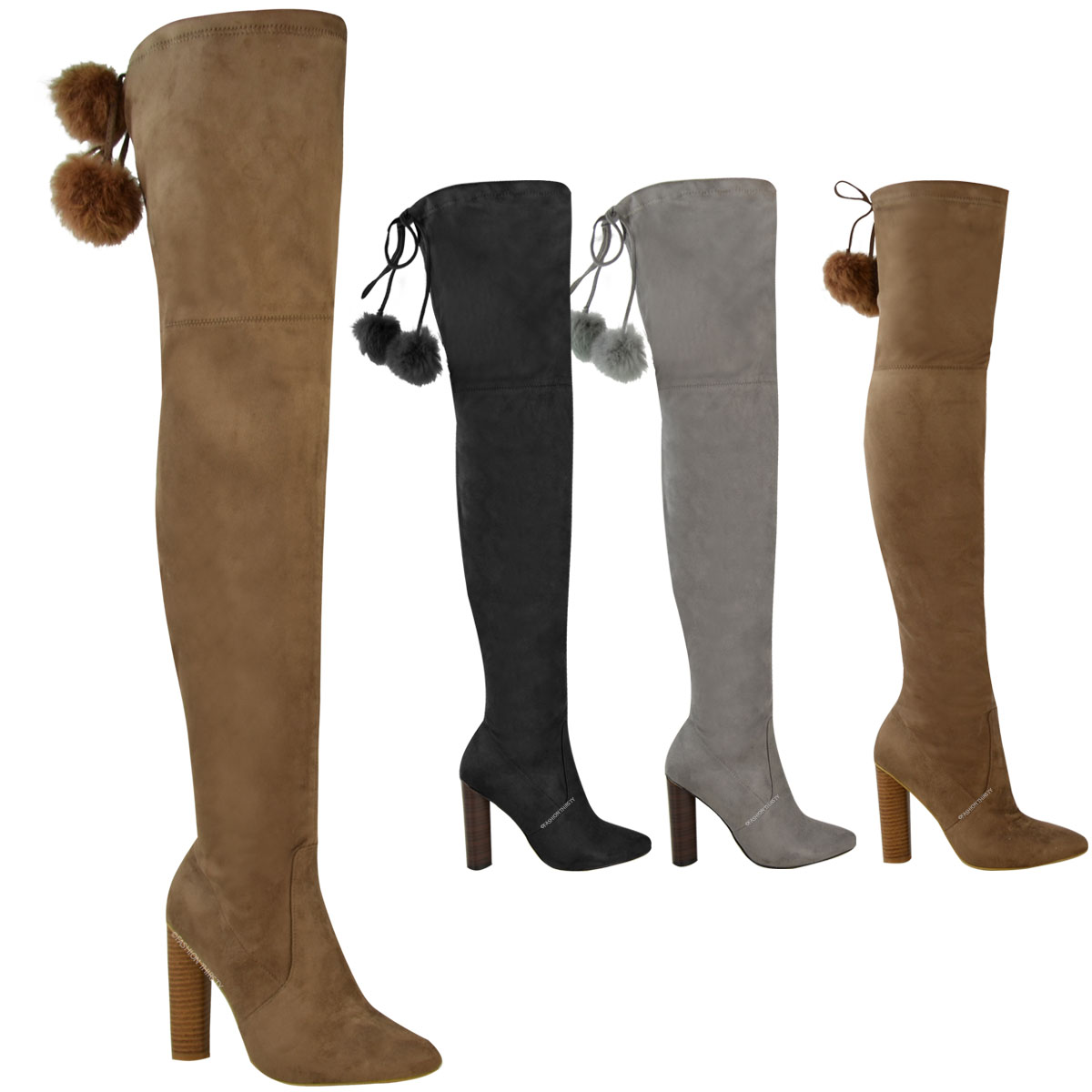 new womens thigh high stretch boots the knee