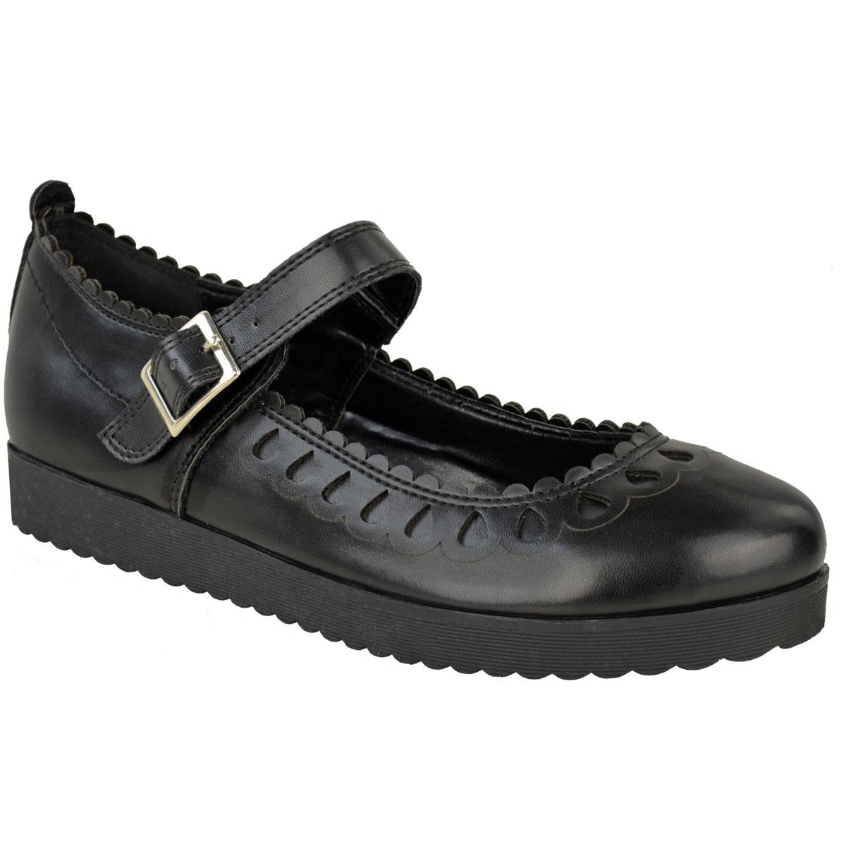 New-Womens-Ladies-Girls-Flats-Shoes-Pumps-School-Work-Office-Geek-Low-Heels-Size thumbnail 6