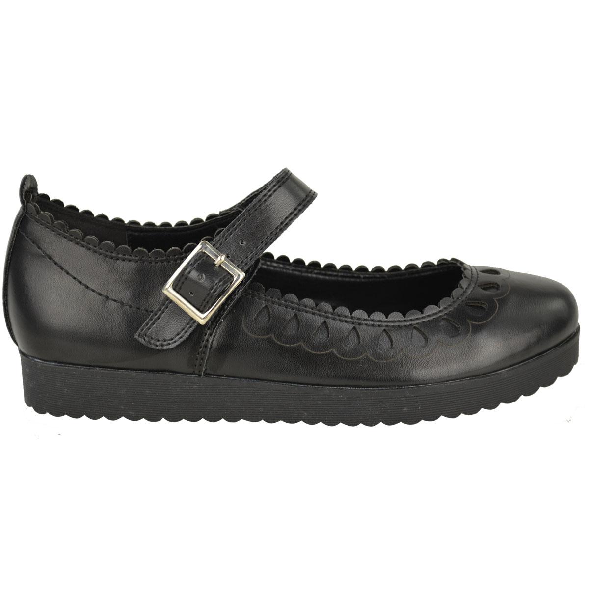 New-Womens-Ladies-Girls-Flats-Shoes-Pumps-School-Work-Office-Geek-Low-Heels-Size thumbnail 7