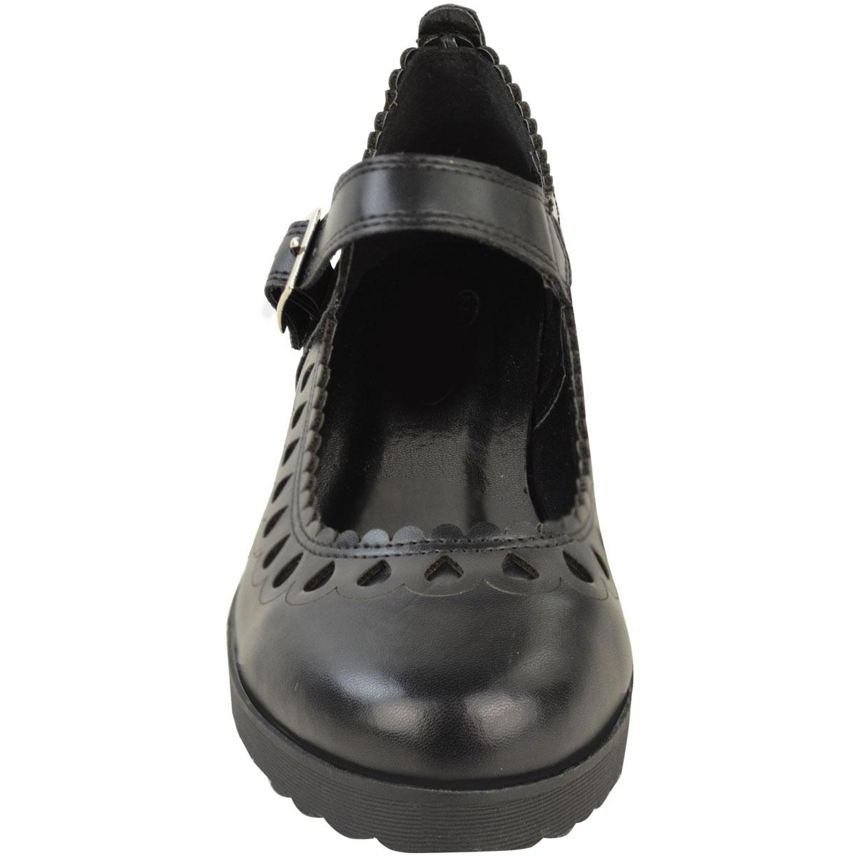 New-Womens-Ladies-Girls-Flats-Shoes-Pumps-School-Work-Office-Geek-Low-Heels-Size thumbnail 9