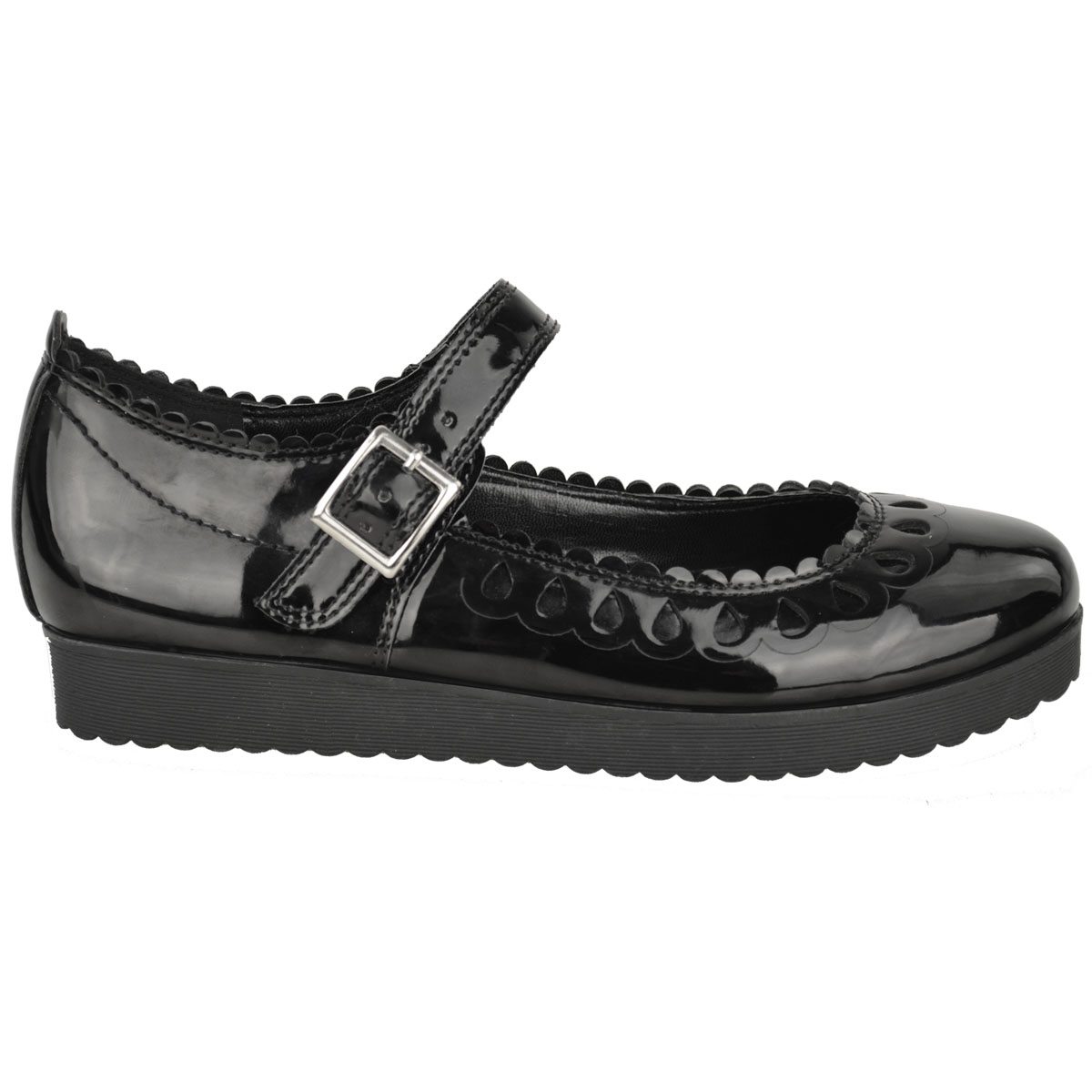 New-Womens-Ladies-Girls-Flats-Shoes-Pumps-School-Work-Office-Geek-Low-Heels-Size thumbnail 3