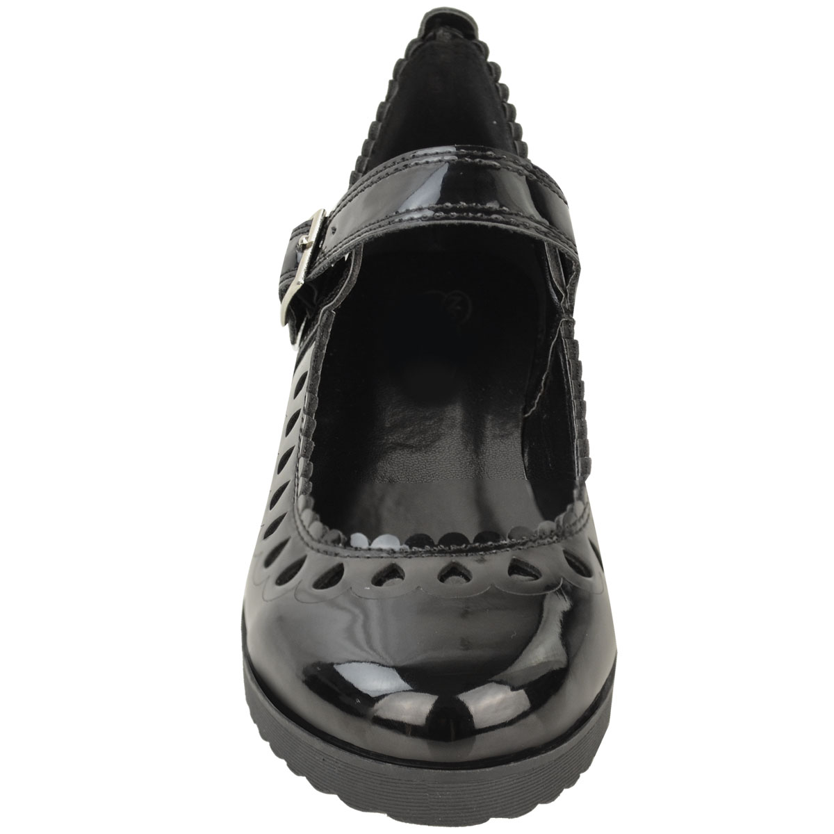 New-Womens-Ladies-Girls-Flats-Shoes-Pumps-School-Work-Office-Geek-Low-Heels-Size thumbnail 5