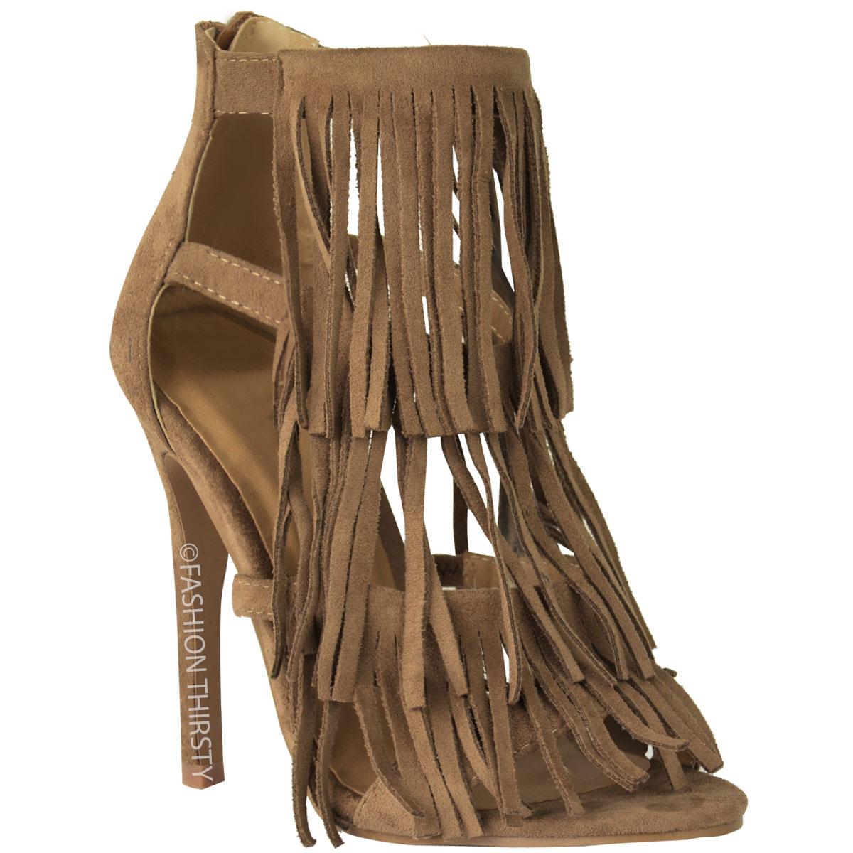 femme femmes frange talon haut soir e sandales tassel lani res talon aiguille chaussures. Black Bedroom Furniture Sets. Home Design Ideas