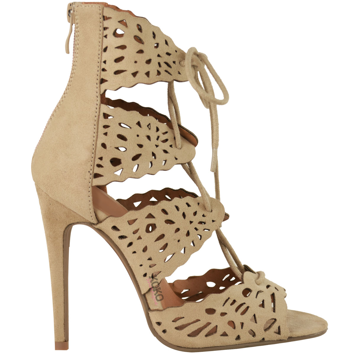 new high heel sandals womens lace up chic