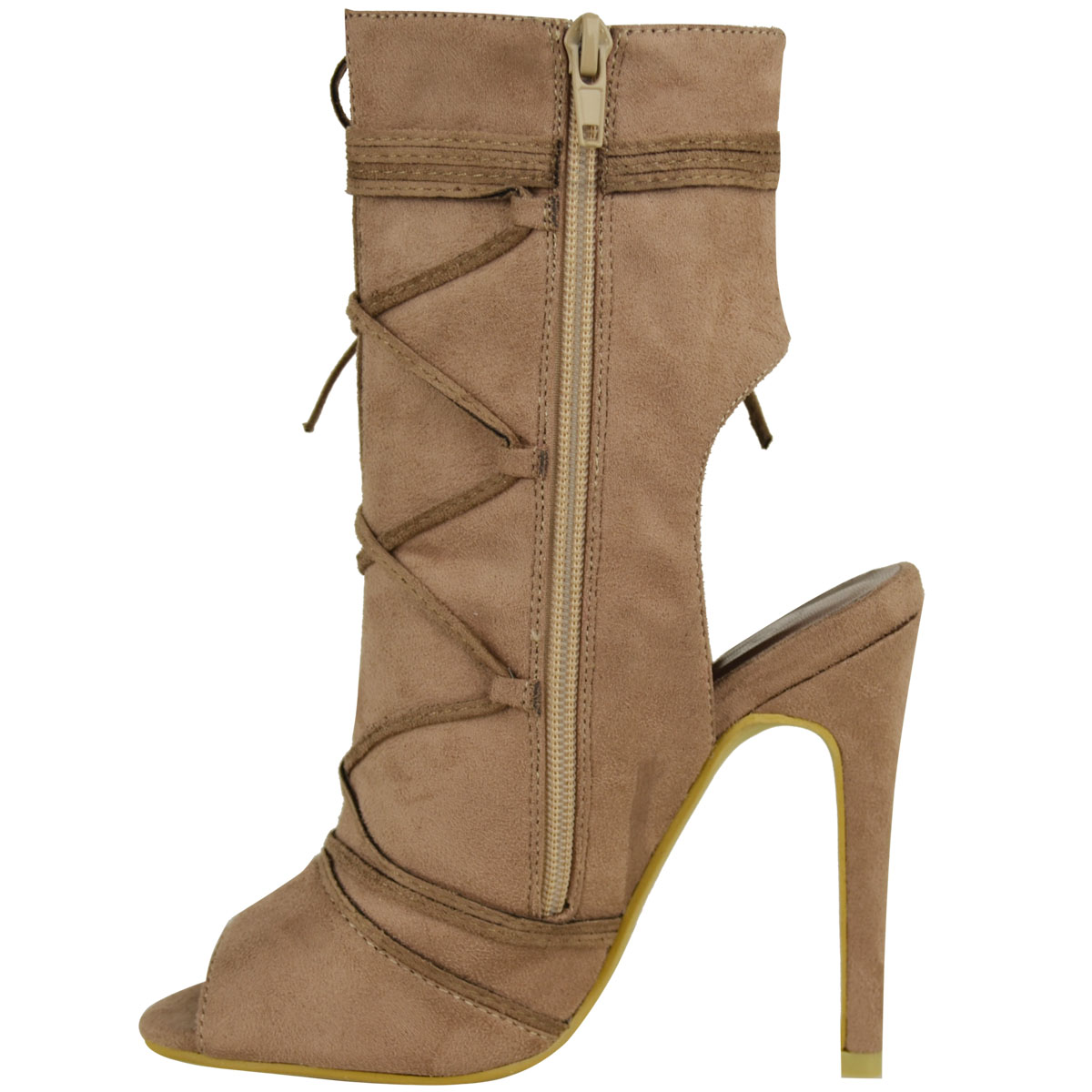 high heel lace up sandals womens open toe