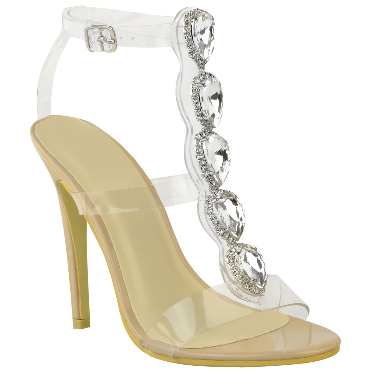 New-Womens-Ladies-Perspex-High-Heel-Jewel-Stiletto-Sandals-Strappy-Shoes-Size