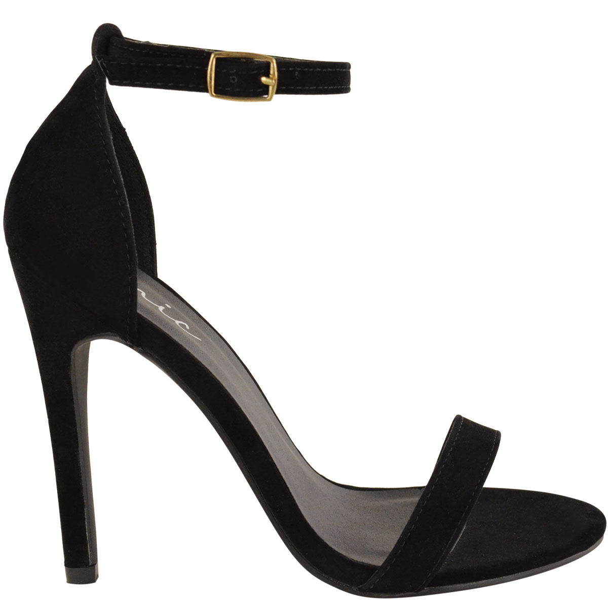 Black party sandals - Womens Ladies Barely There High Heel Ankle Cross