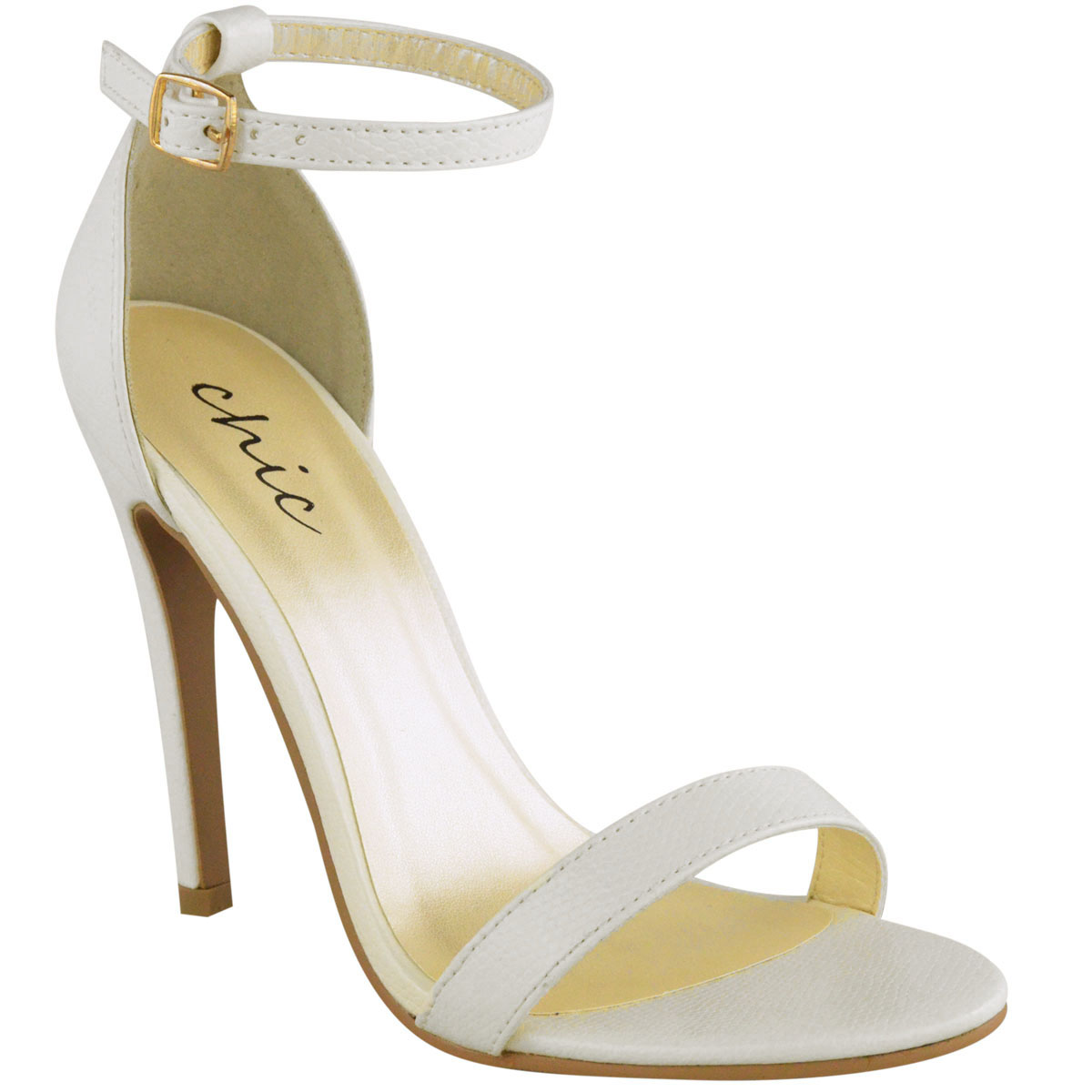 Womens La s Barely There High Heel Party Wedding Sandals Ankle