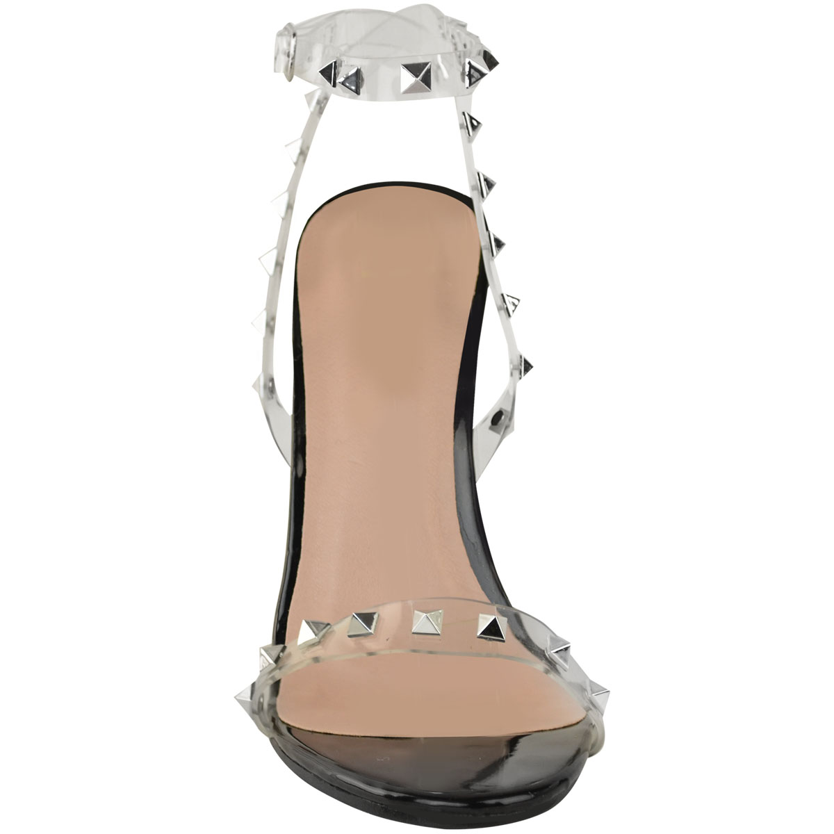 New-High-Heel-Party-Sandals-Womens-Ladies-Rock-Prom-Perspex-Stud-Stilleto-Size
