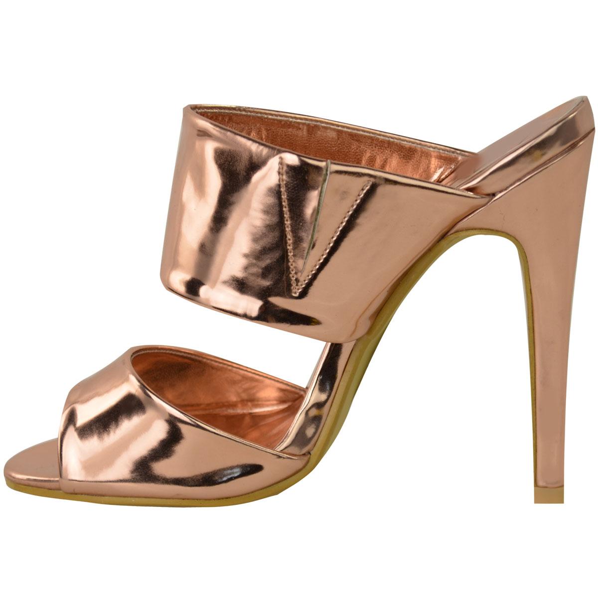 Womens sandals ebay - Ladies Womens High Heel Stiletto Backless Peep Toe