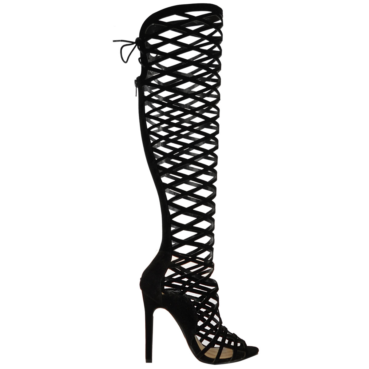 Strappy High Heel Boots