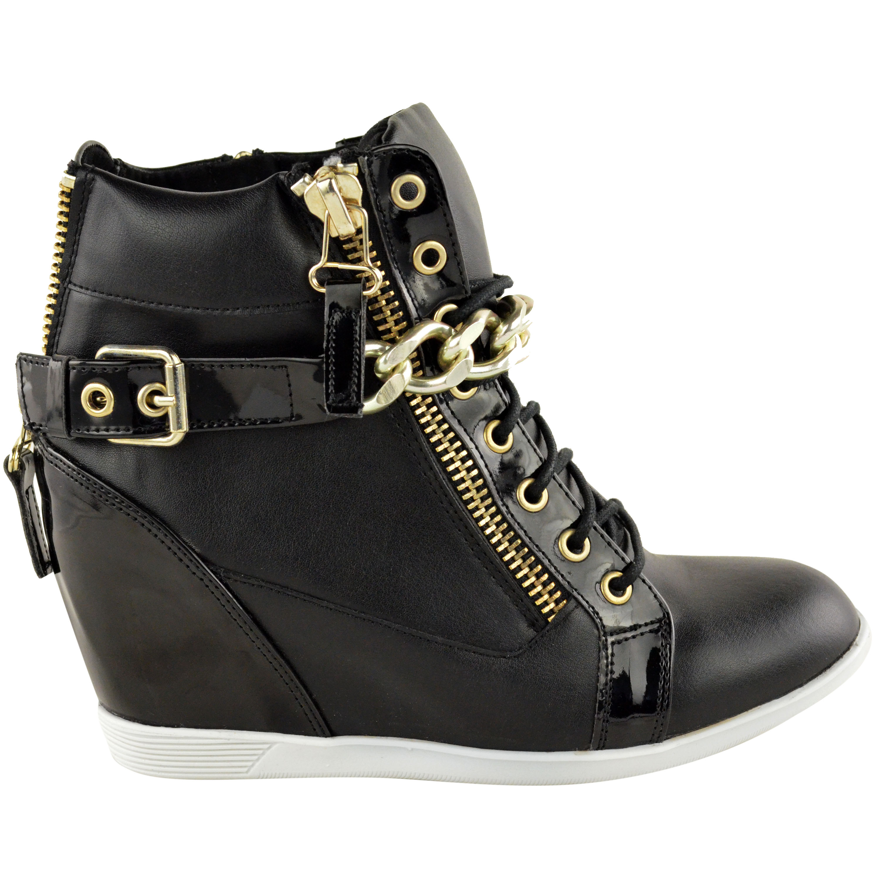 womens wedge trainers mid high heel ankle
