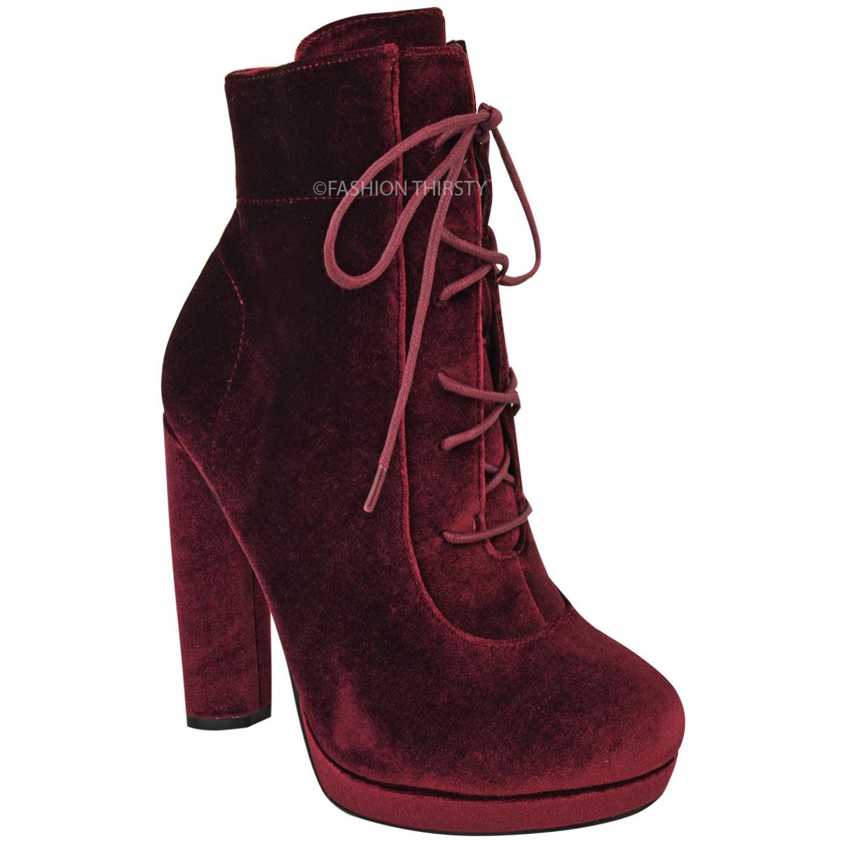 Platform high heel ankle boots